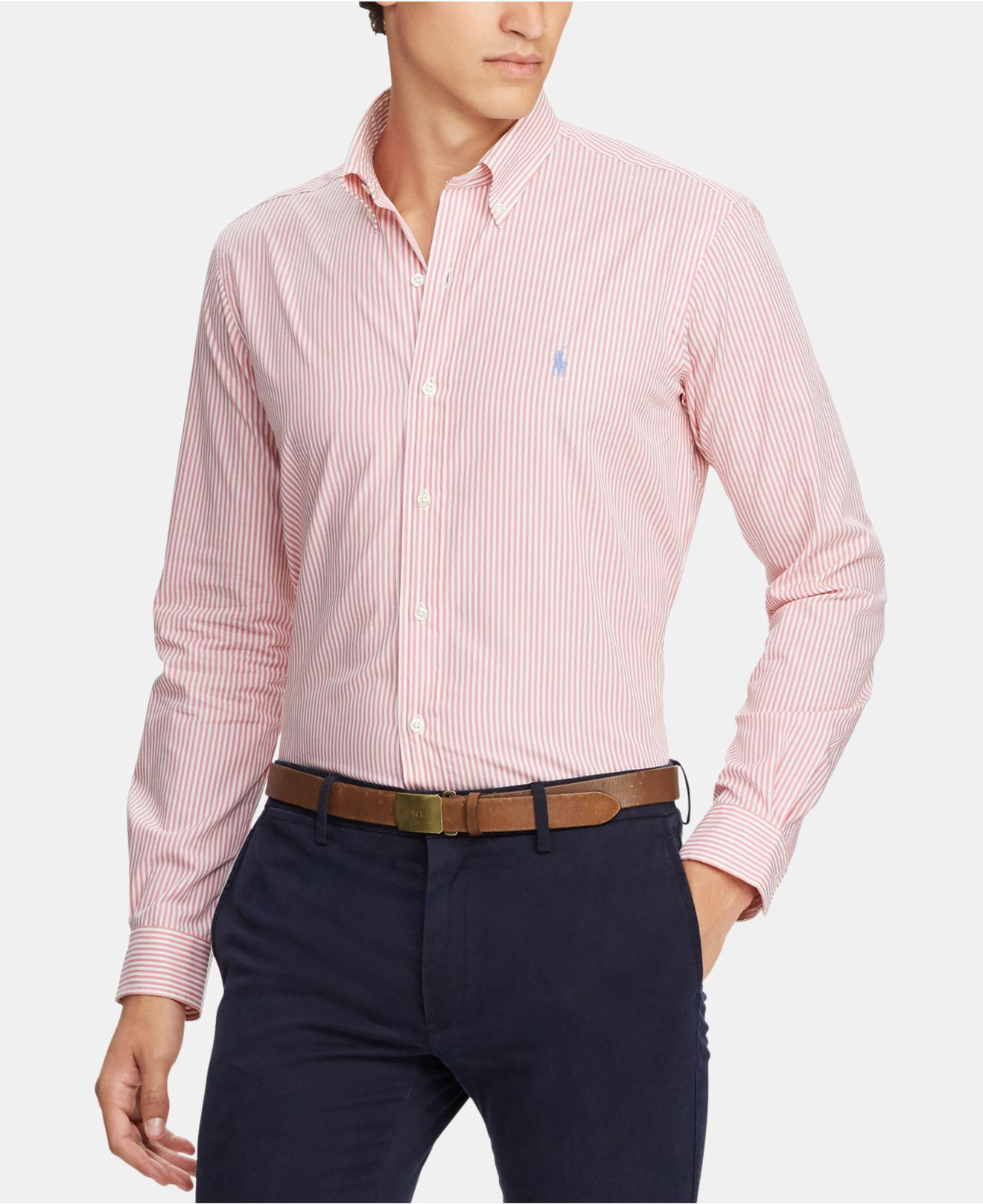 058eb69f1 Lyst - Polo Ralph Lauren Slim Fit Gingham Shirt in Pink for Men