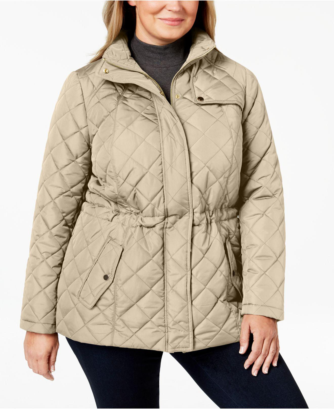 698eae6a306 Lyst - Charter Club Plus Size Quilted Zip-front Jacket