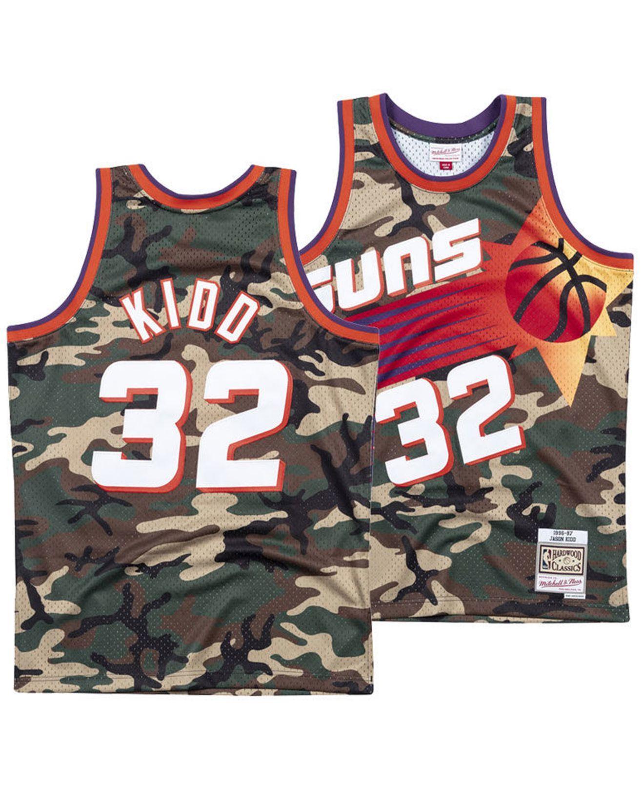 f623ca72f3d Mitchell   Ness Jersey Jason Kidd Phoenix Suns Woodland Camo ...