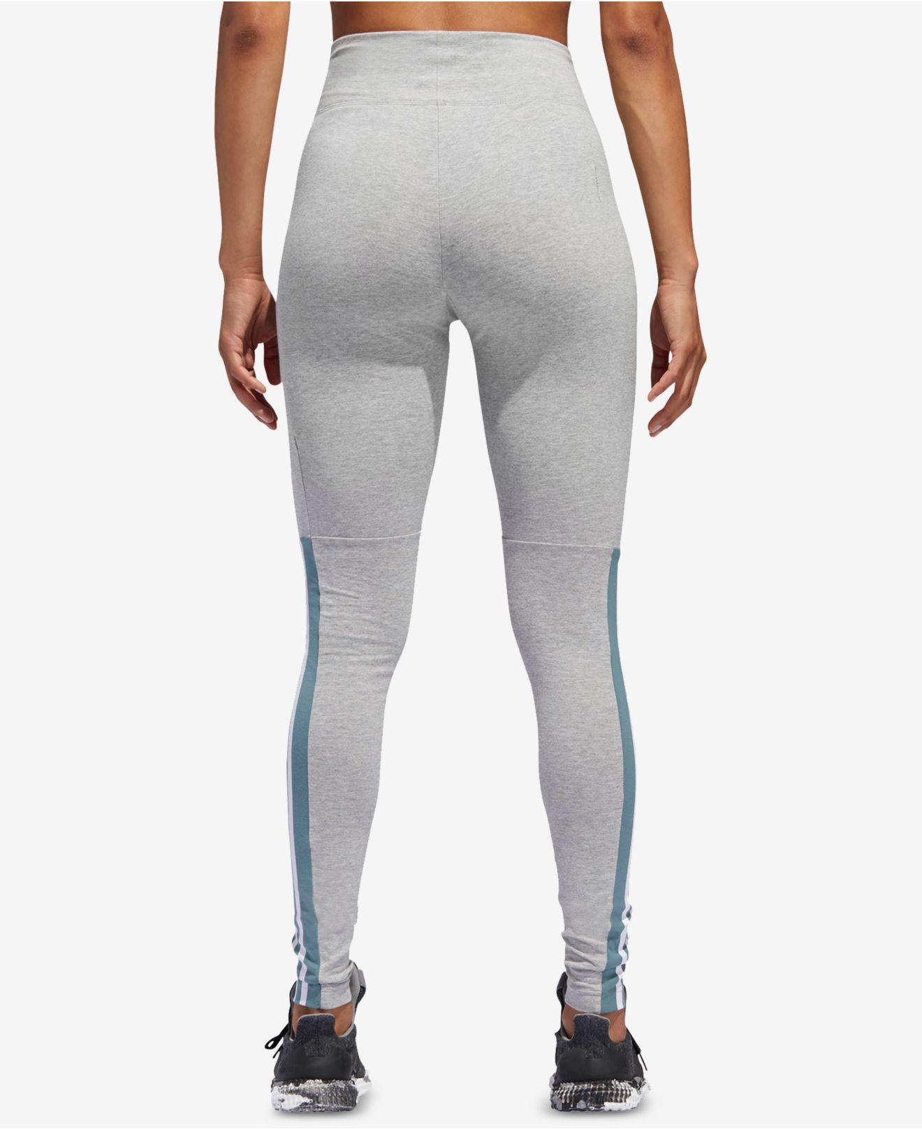 a1d0462d58a Lyst - adidas Id Three-stripe Leggings in Gray