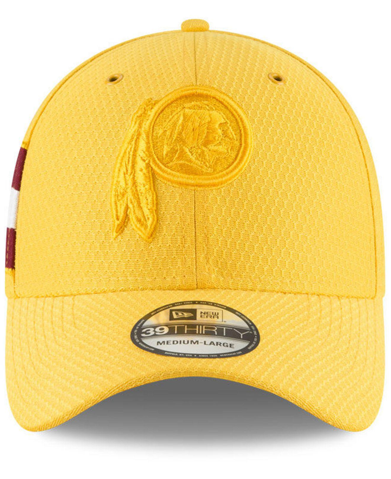 1d7b4234e0085 ... purchase lyst ktz washington redskins official color rush 39thirty  stretch fitted cap in metallic for men