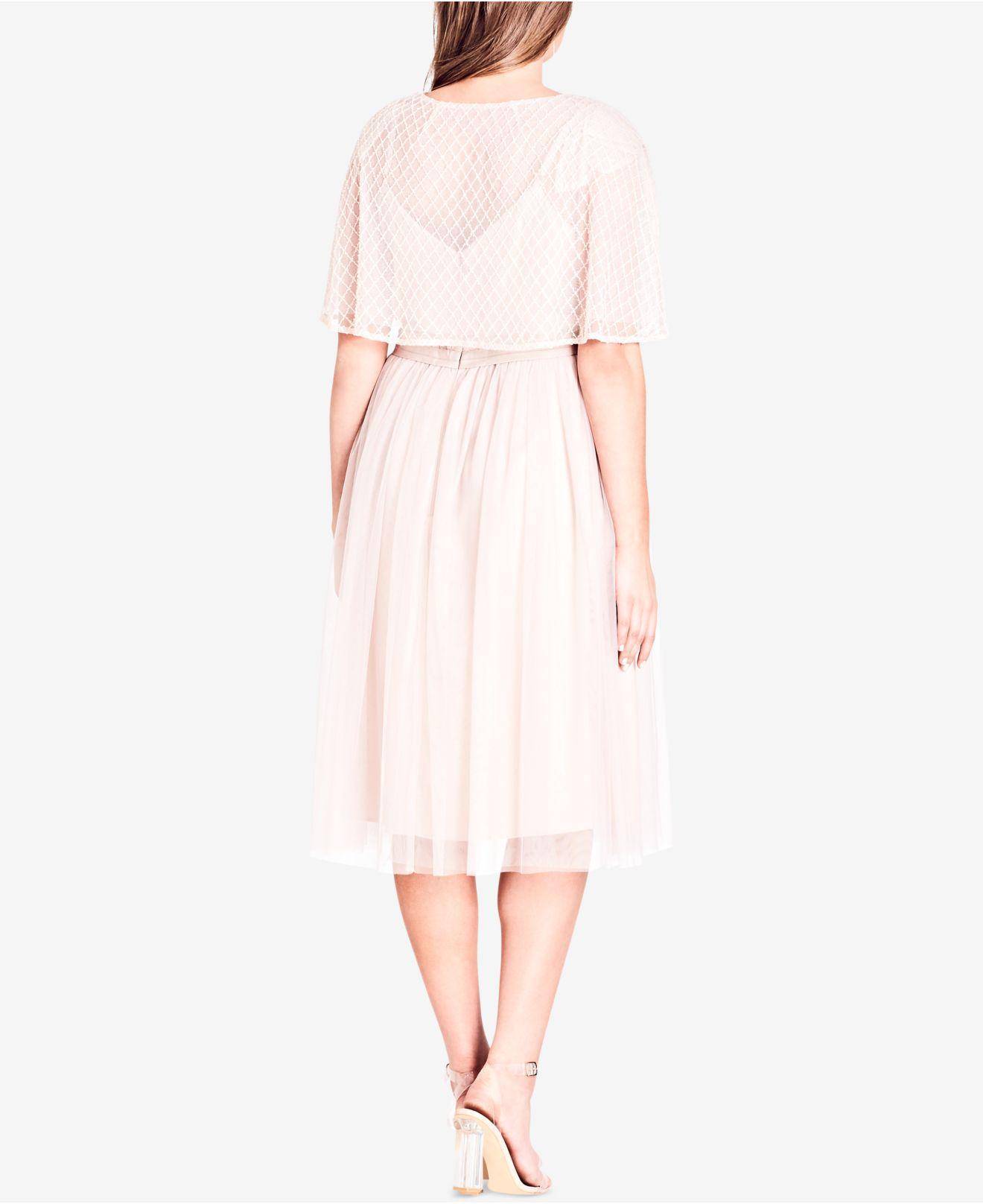 d869fb66d3da7 Lyst - City Chic Trendy Plus Size Sheer Cape Cardigan in Pink