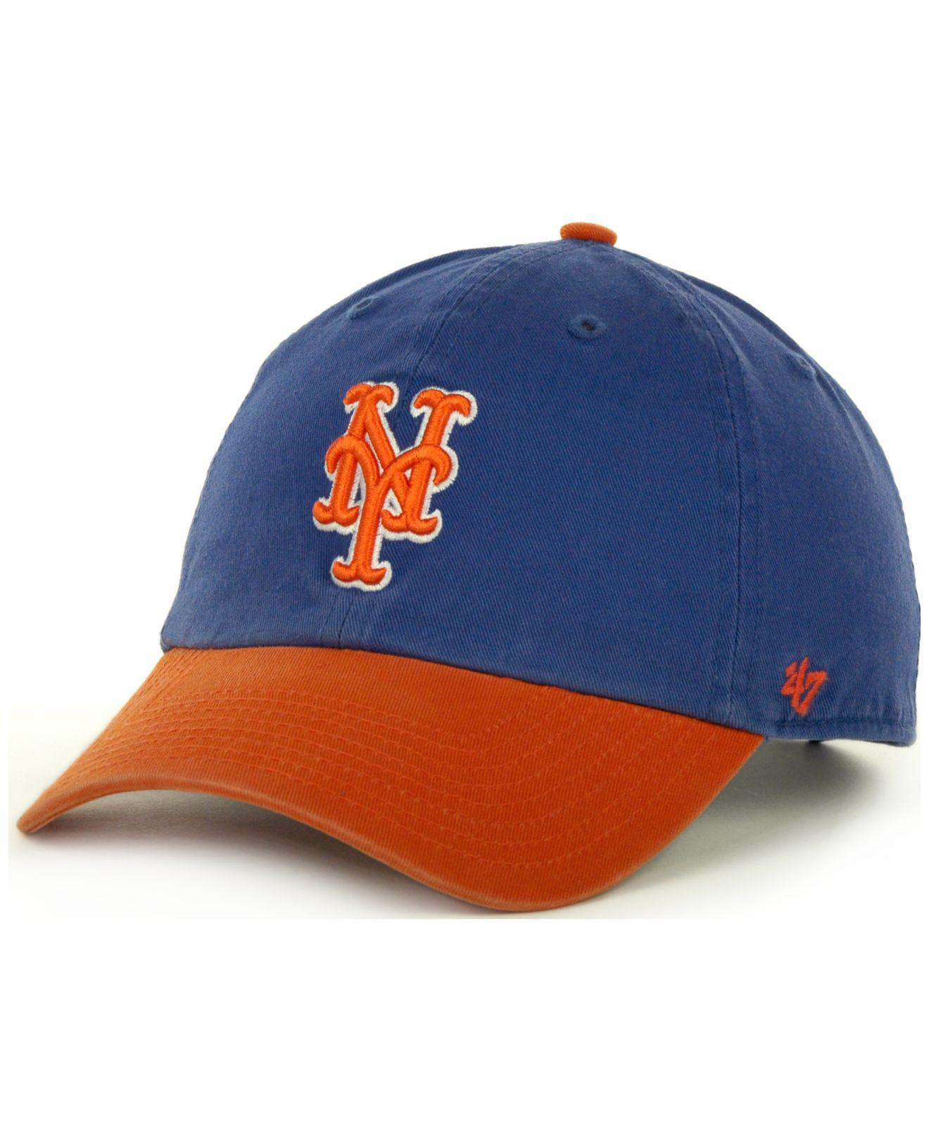 5416b54339afe 47 Brand New York Mets Clean Up Hat in Orange for Men - Lyst