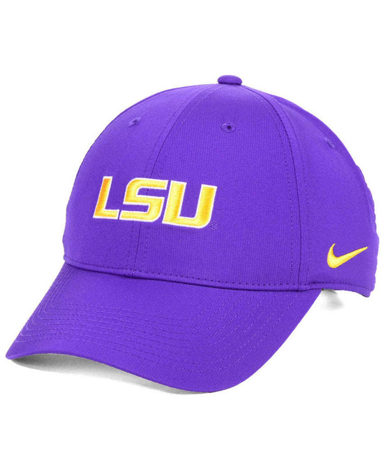 buy popular ee048 f8659 Nike. Men s Purple Lsu Tigers Dri-fit Adjustable Cap