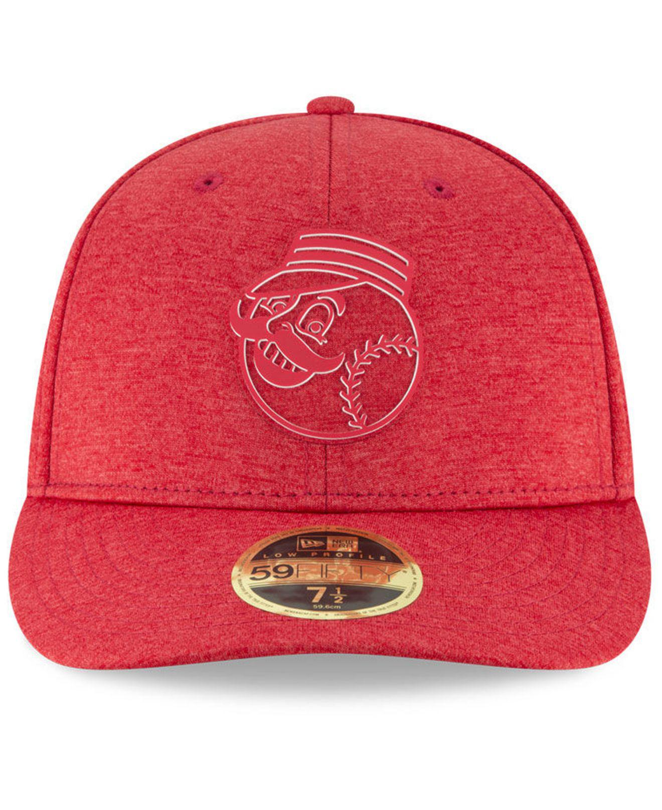 official photos 5c6a9 916d4 ... australia lyst ktz cincinnati reds clubhouse low crown 59fifty fitted  cap in red for men 62ee3