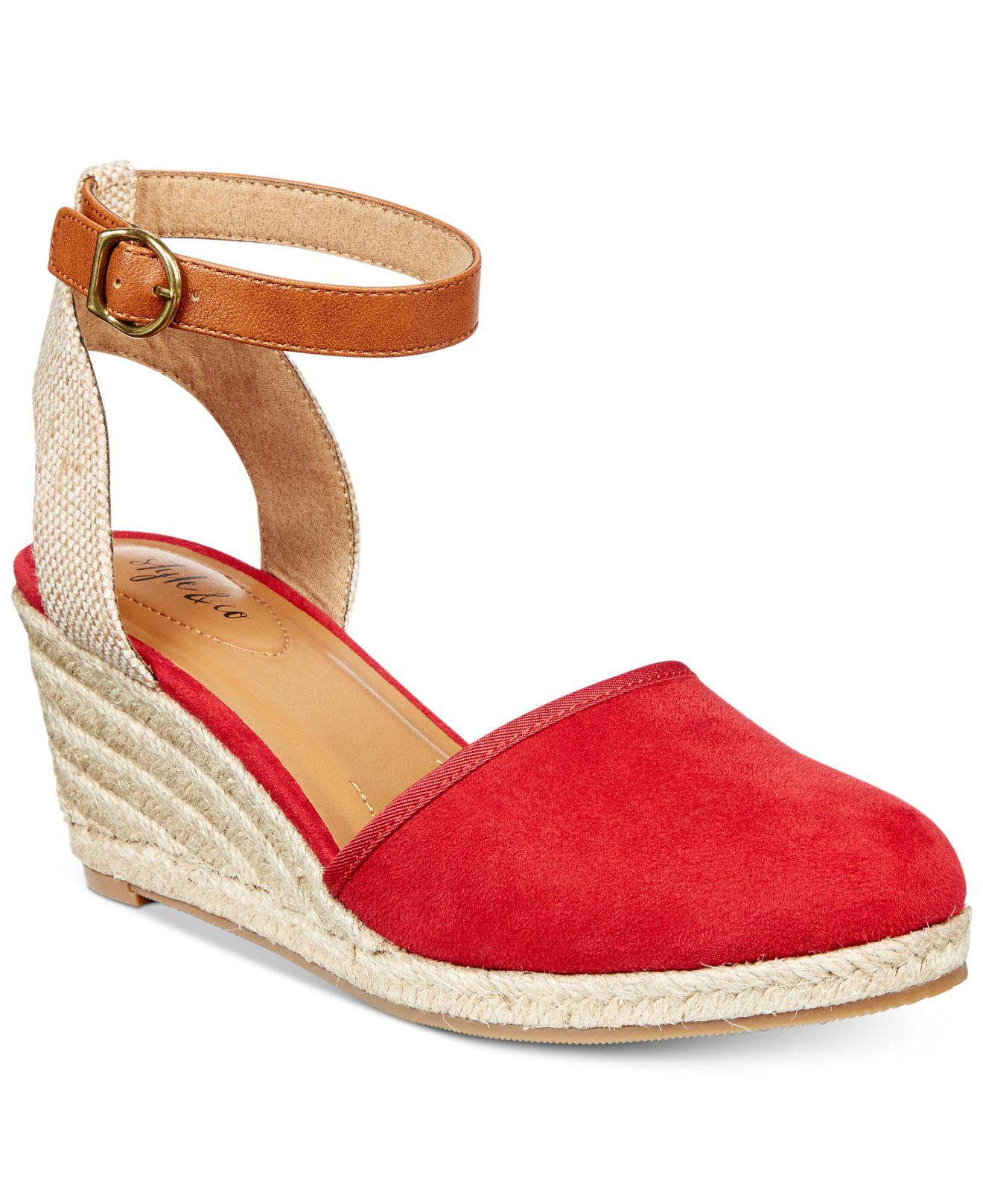 09927c27298 Style   Co. Women s Red Mailena Wedge Espadrille Sandals ...