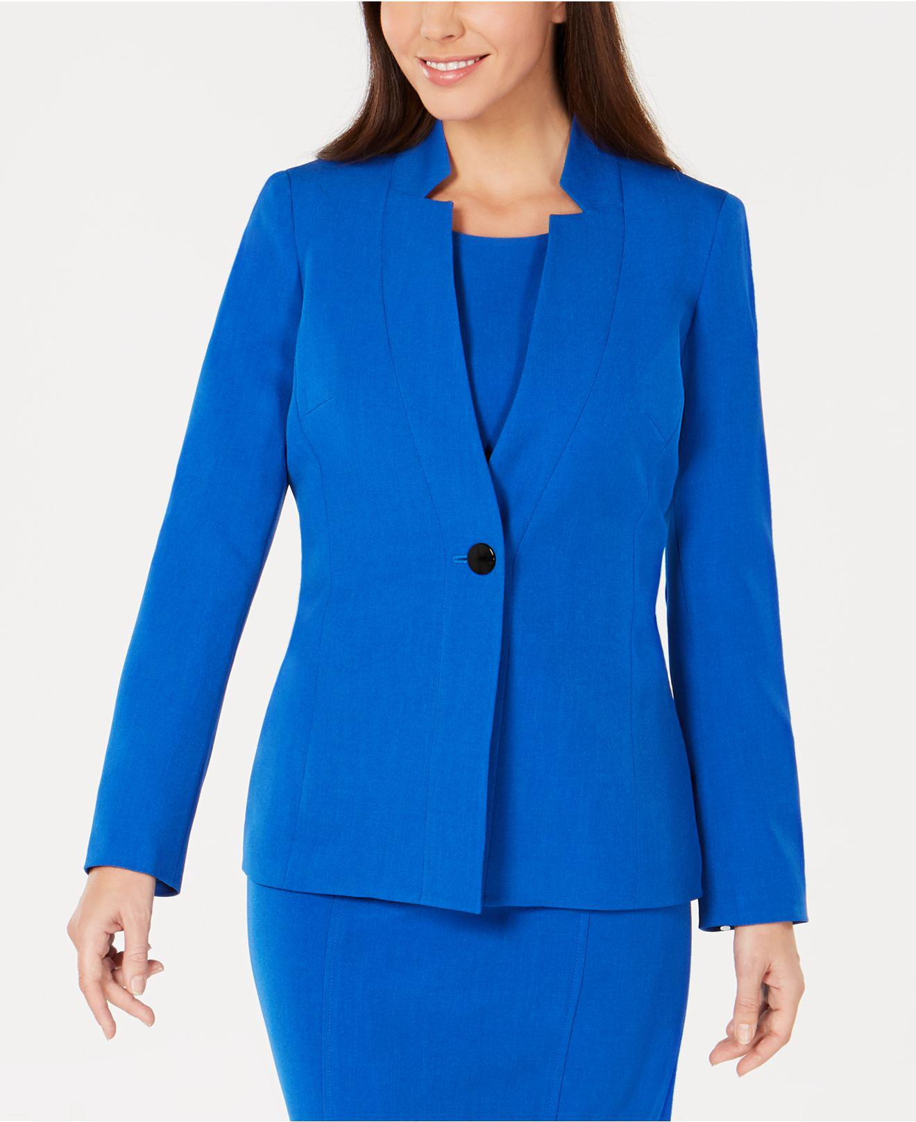 bff2b994fc8 Lyst - Kasper Inverted-collar One-button Jacket in Blue