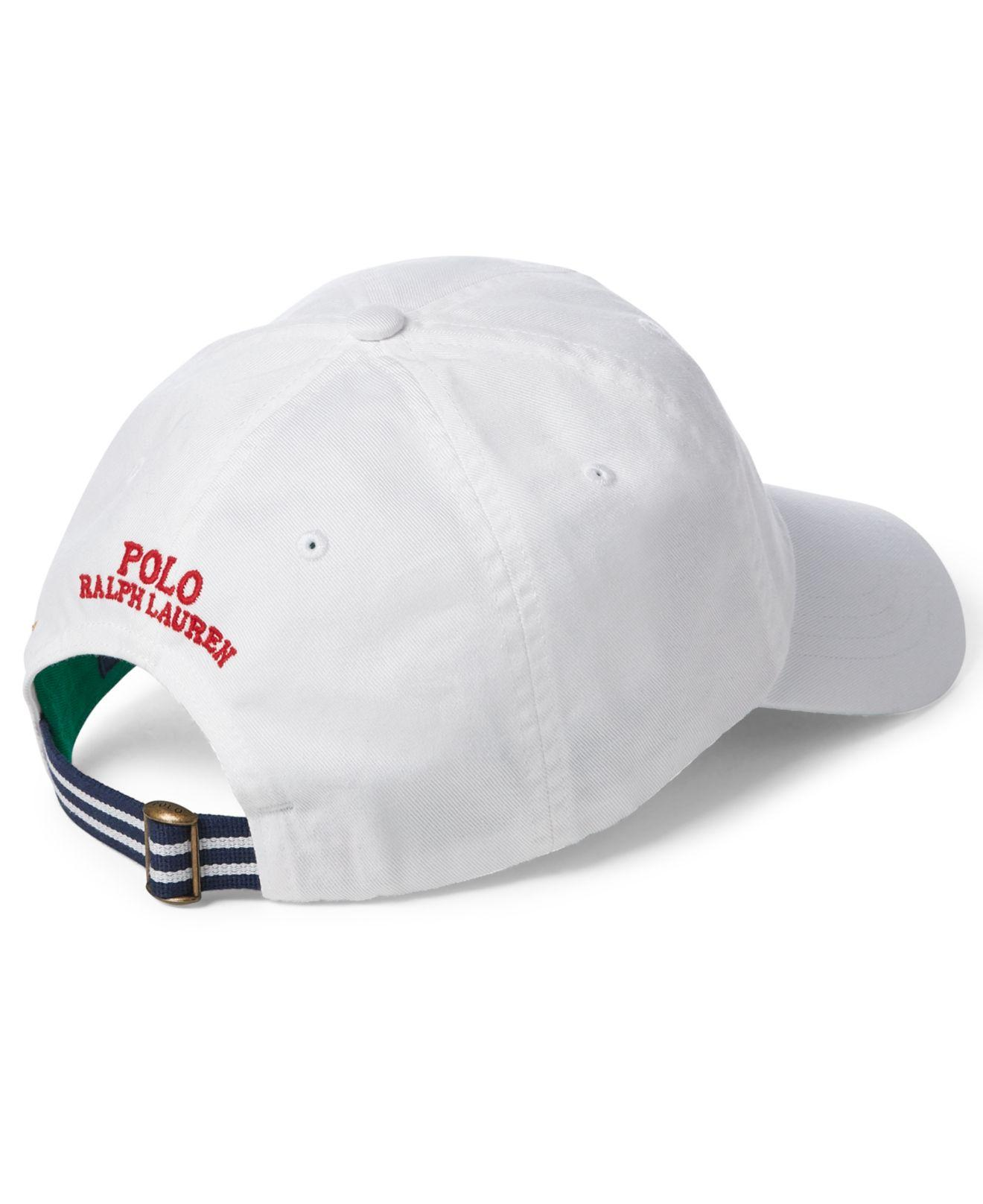 5a78b23643b40 Lyst - Polo Ralph Lauren Chino Baseball Cap in White for Men - Save 24%