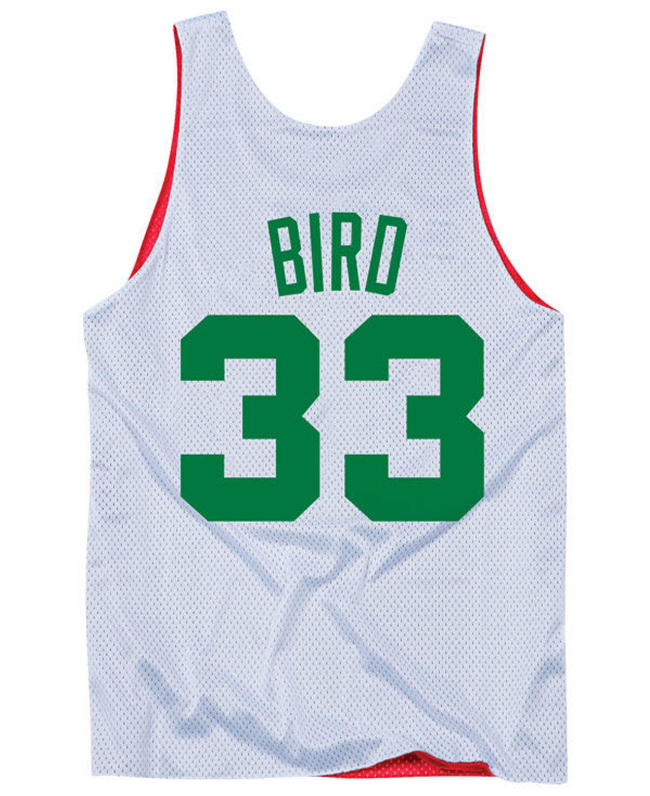 83dcf286f39 Mitchell   Ness Larry Bird Nba All Star Reversible Tank in Red for ...