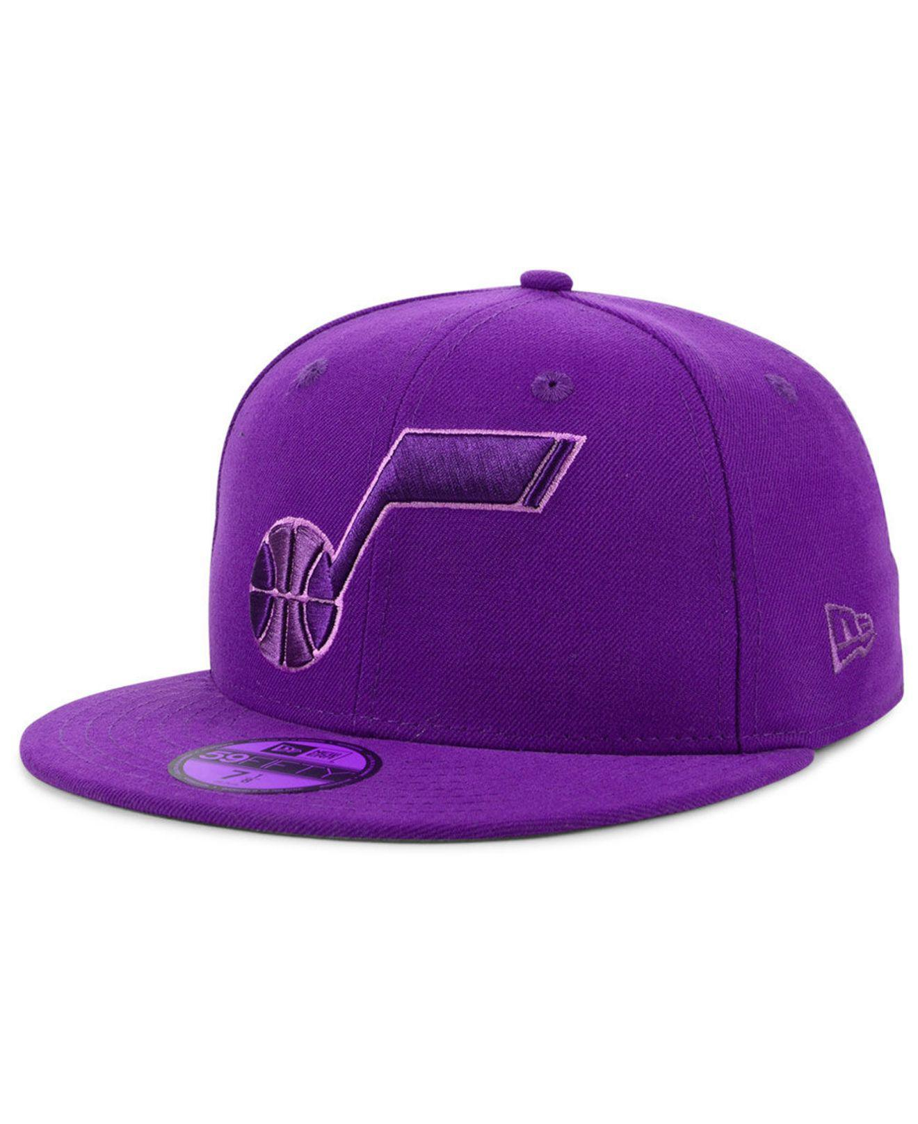 Lyst - Ktz Utah Jazz Color Prism Pack 59fifty Fitted Cap in Purple ... 5a39b4559