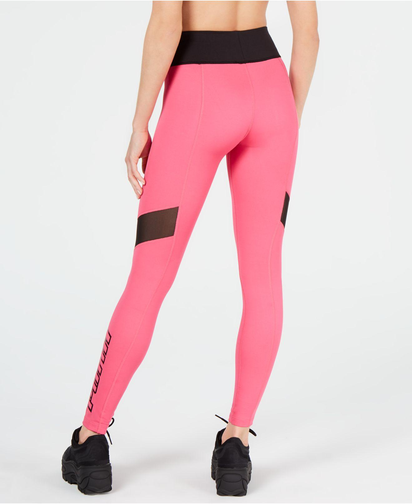 c5cda57e5d395b Lyst - PUMA Tz High-waist Logo Leggings in Pink