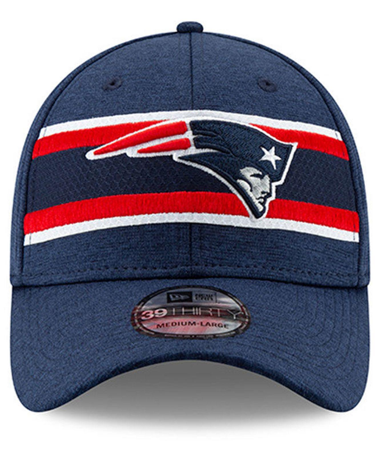 b07715e5e Lyst - KTZ New England Patriots Super Bowl Liii Game Sideline 39thirty  Stretch Fitted Cap in Blue for Men