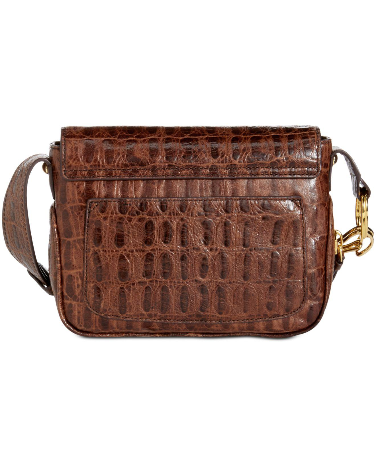Lyst - DKNY Randall Small Flap Crossbody in Brown f46f0dddcfcae
