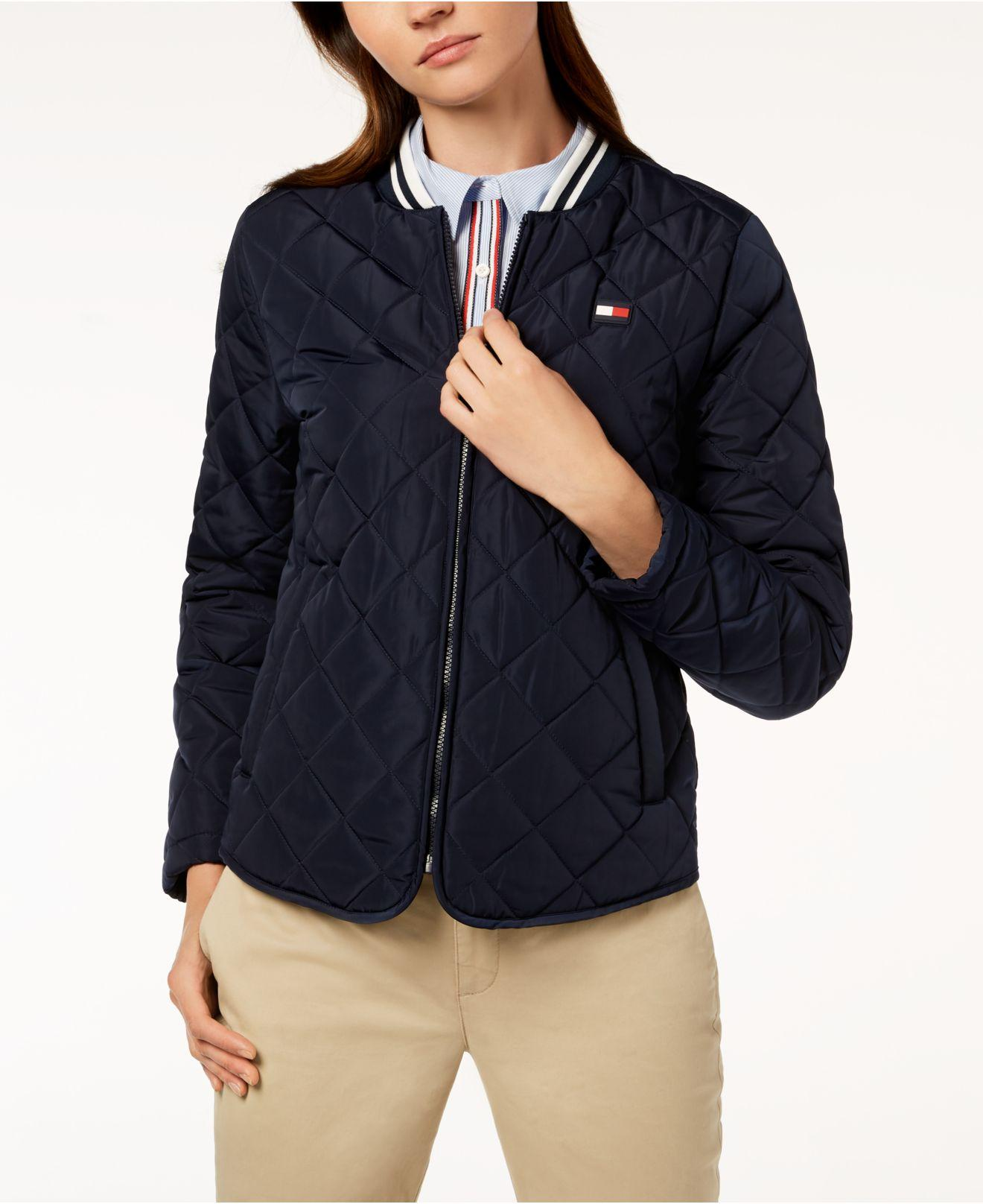 02d3aa4751 Tommy Hilfiger Sport Quilted Bomber Jacket in Blue - Save 20% - Lyst