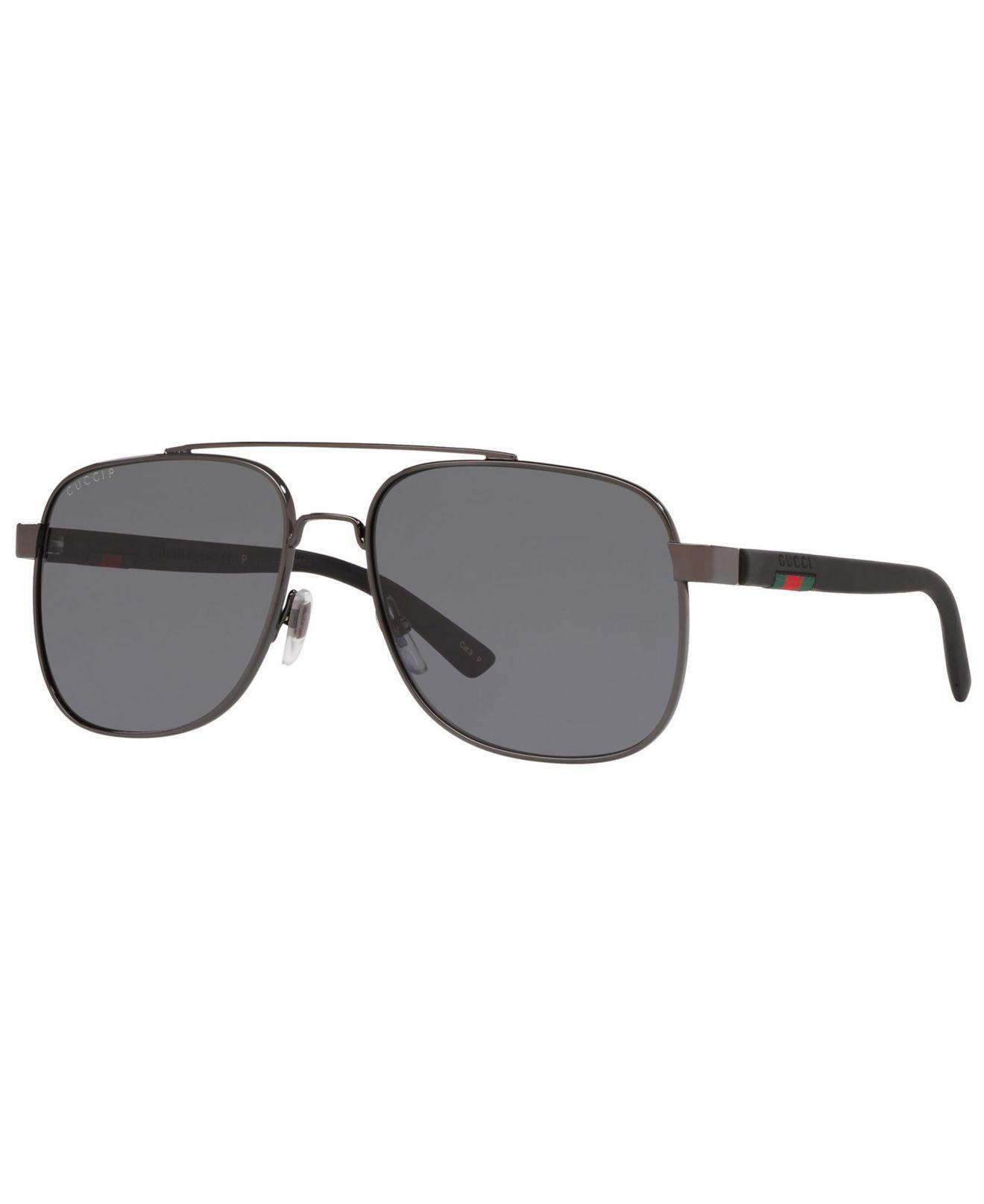 de2b75ce5a Gucci. Men s Gray Polarized Sunglasses ...