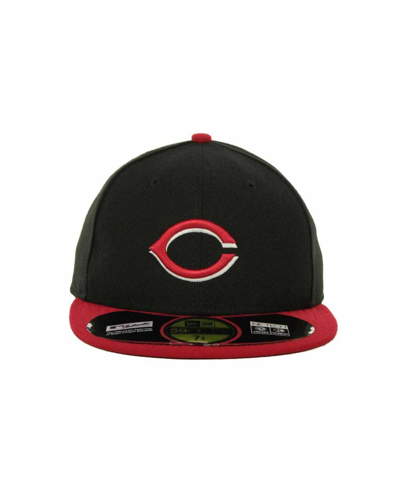 c373cb72141 Lyst - KTZ Cincinnati Reds Authentic Collection 59fifty Hat in Blue for Men