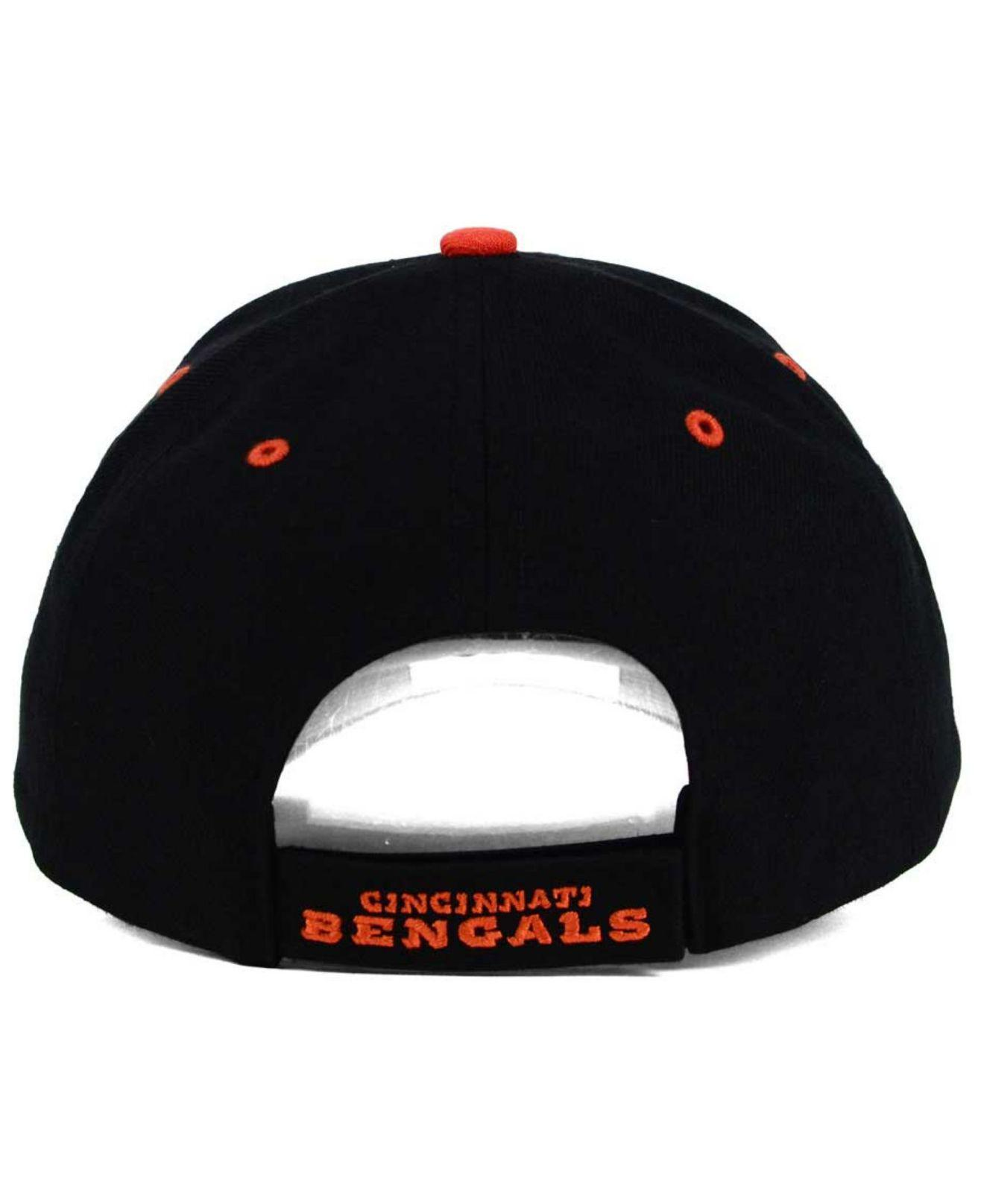 newest 12167 976e7 ... australia get 47 brand black cincinnati bengals audible mvp cap for men  lyst. view fullscreen