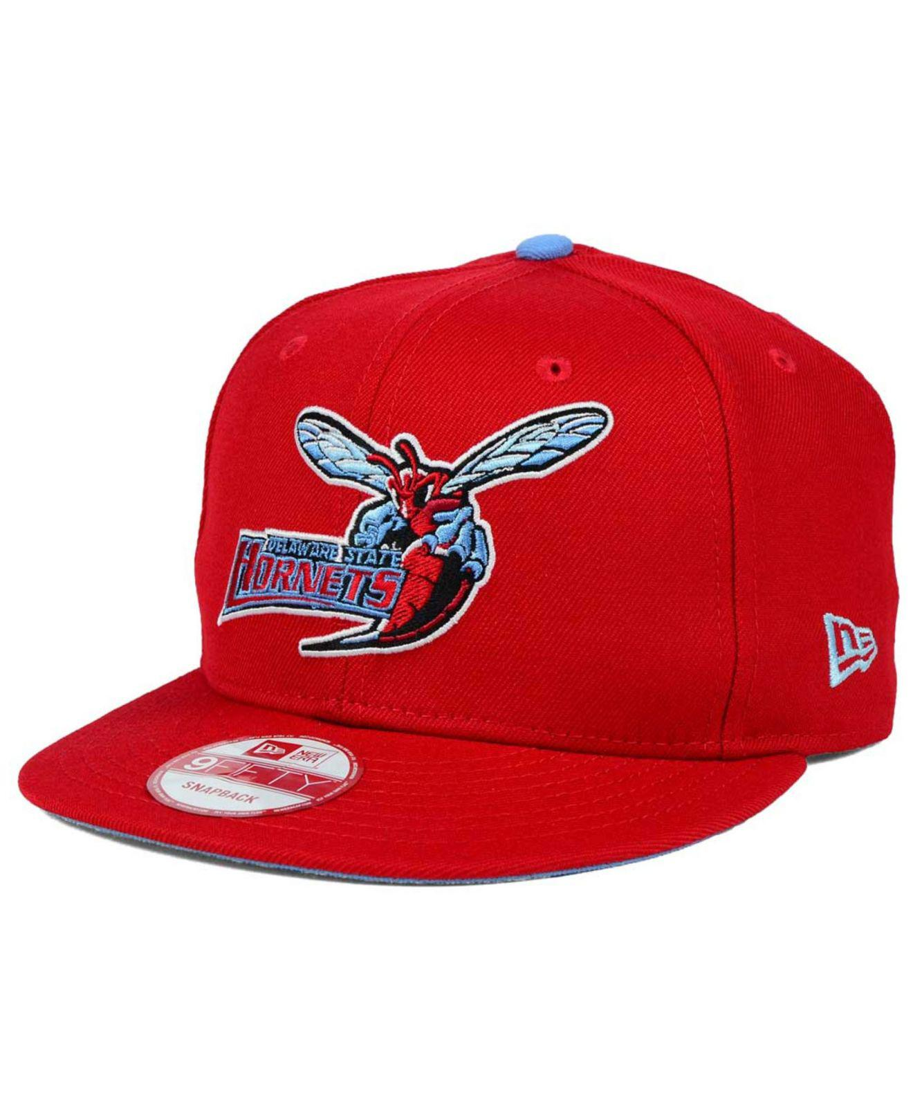 uk availability 0bf6a acb8a KTZ. Men s Red Delaware State Hornets Core 9fifty Snapback Cap