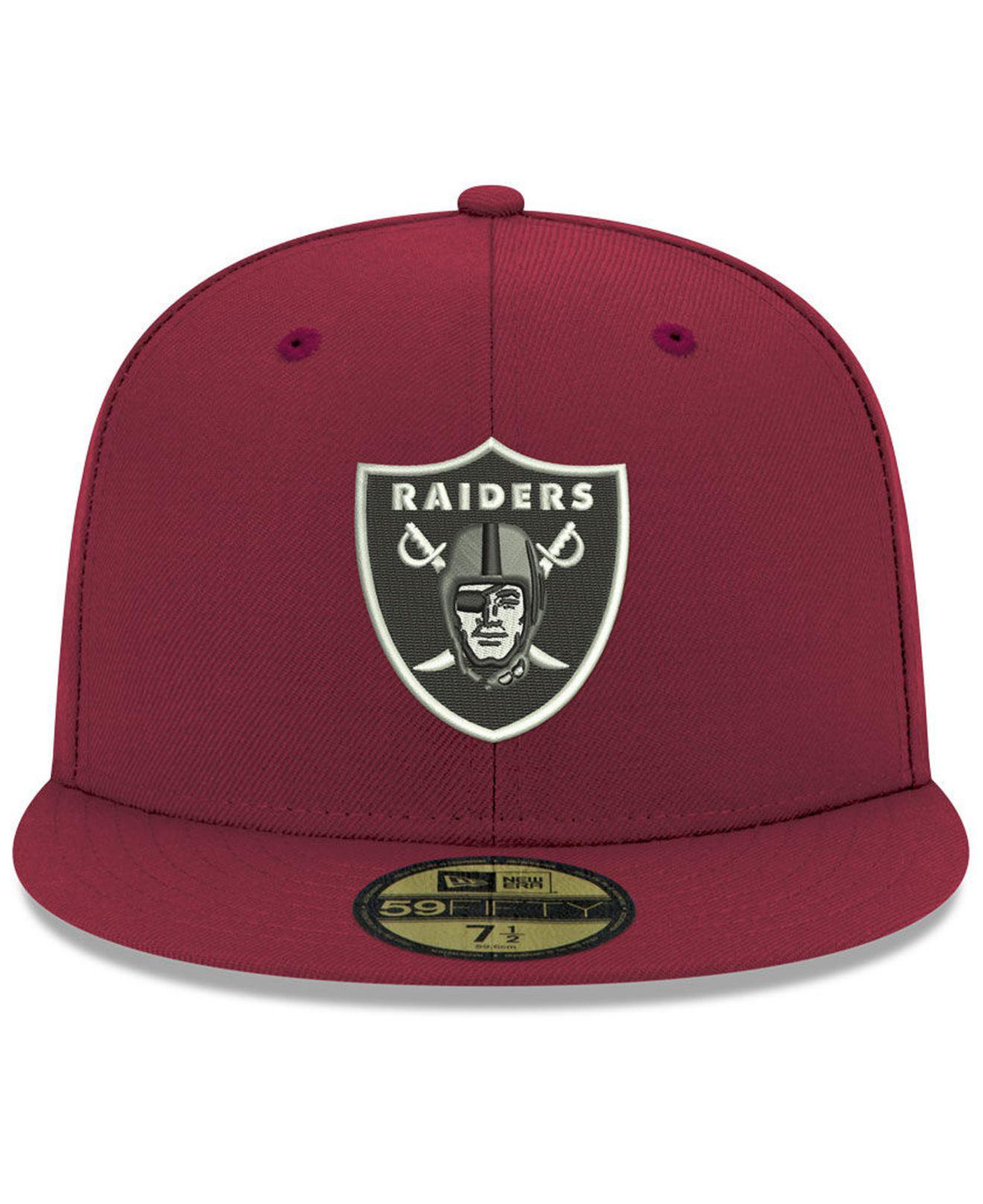4f6c43e68b0 where to buy lyst ktz oakland raiders basic fashion 59fifty fitted cap in  red for men