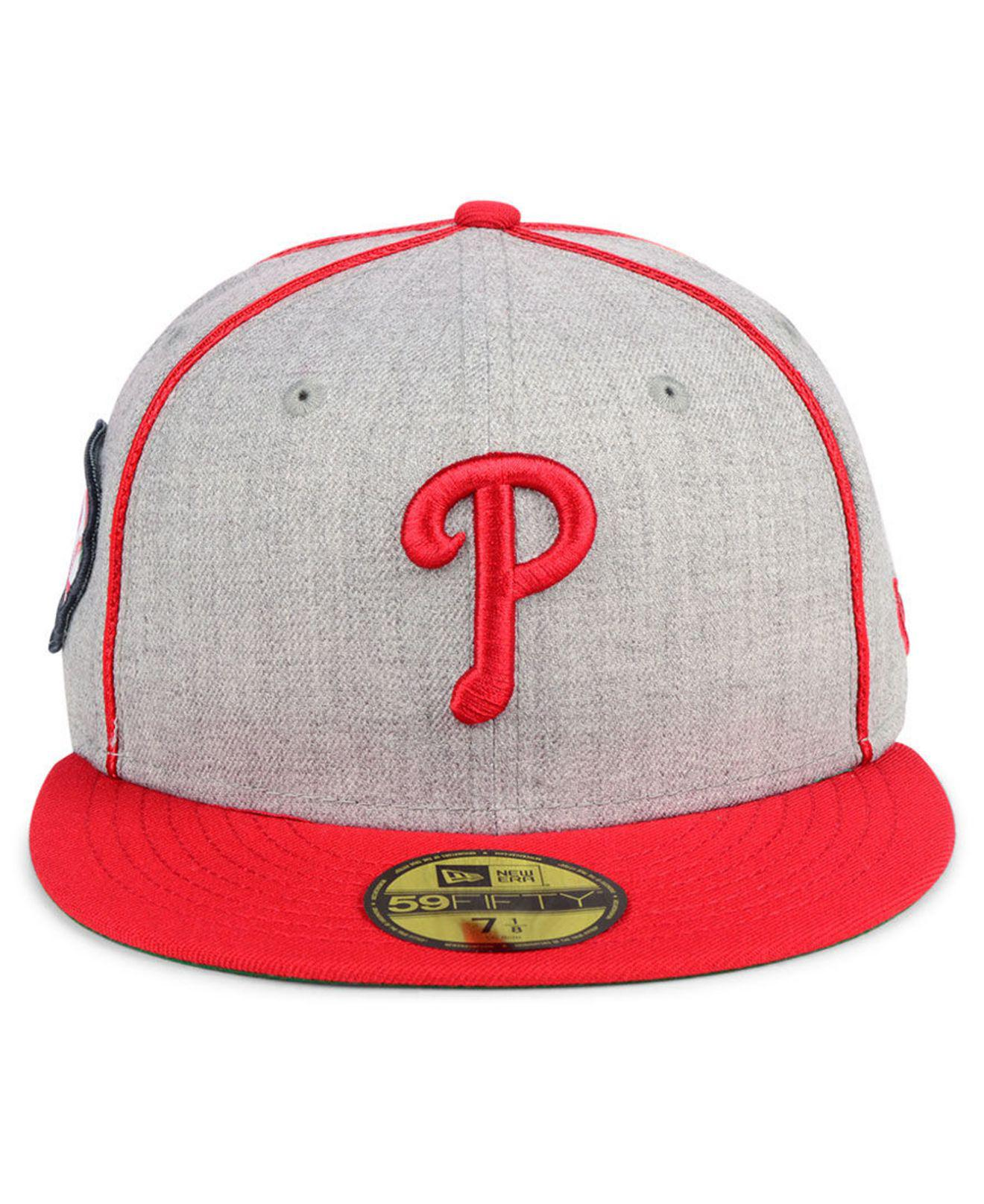 various colors c8c33 96b0e ... inexpensive cheap philadelphia phillies stache 59fifty fitted cap for  men lyst. view fullscreen 346a1 df5cf