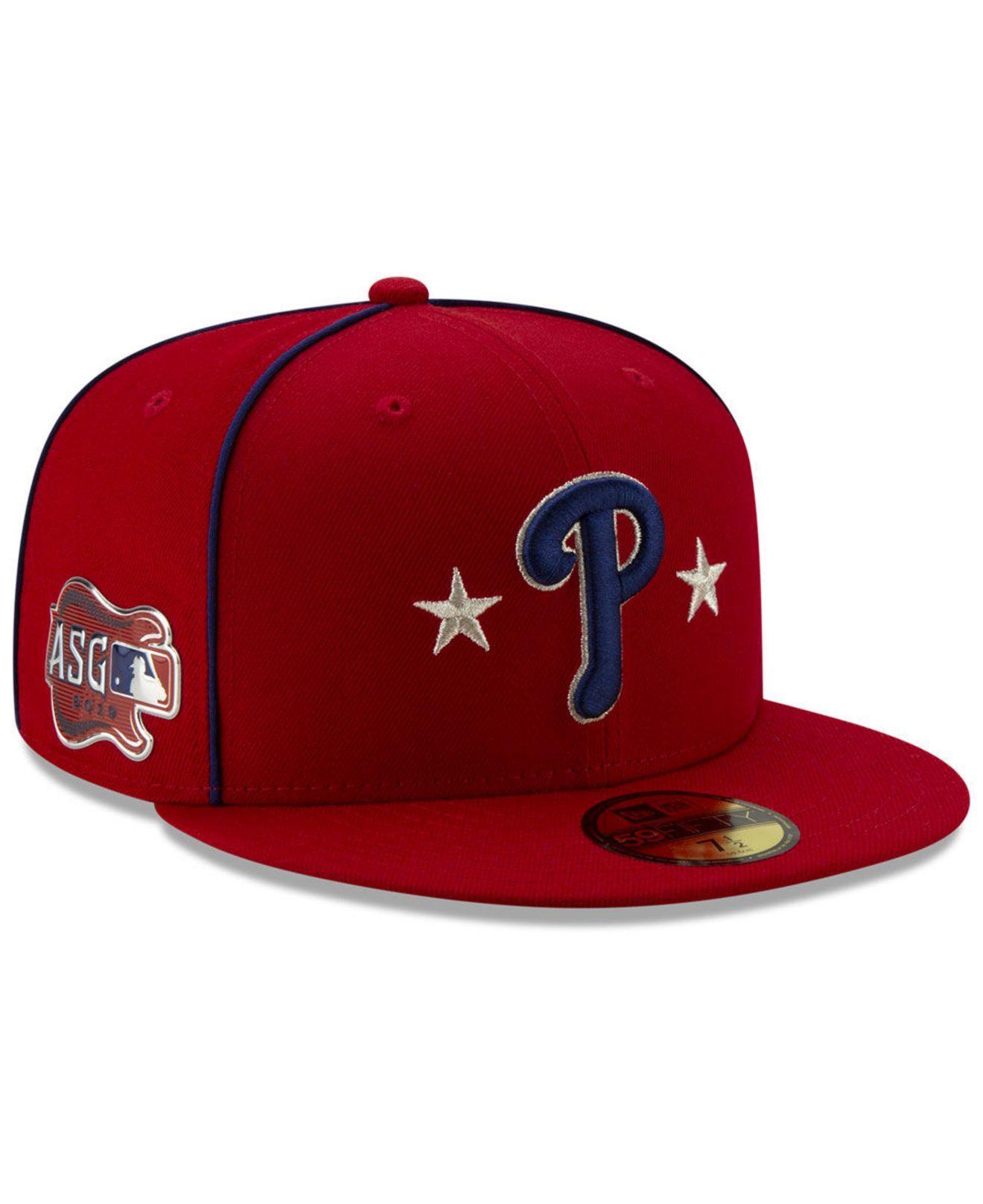 bdbbf43a ... Philadelphia Phillies All Star Game Patch 59fifty Cap for Men - Lyst.  View fullscreen