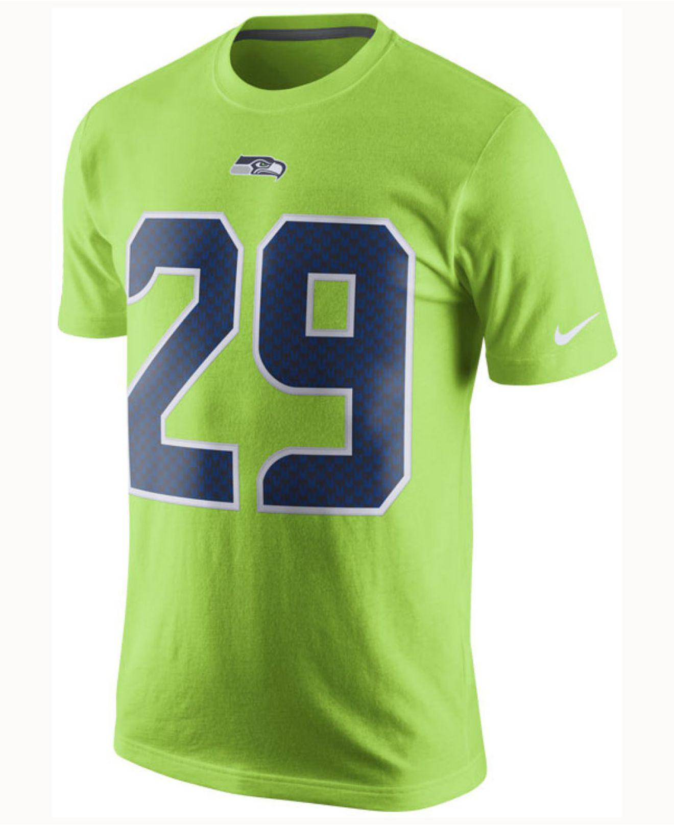 Lyst - Nike Men s Earl Thomas Iii Seattle Seahawks Color Rush Name   Number  T-shirt in Green for Men 3b95ec4b3