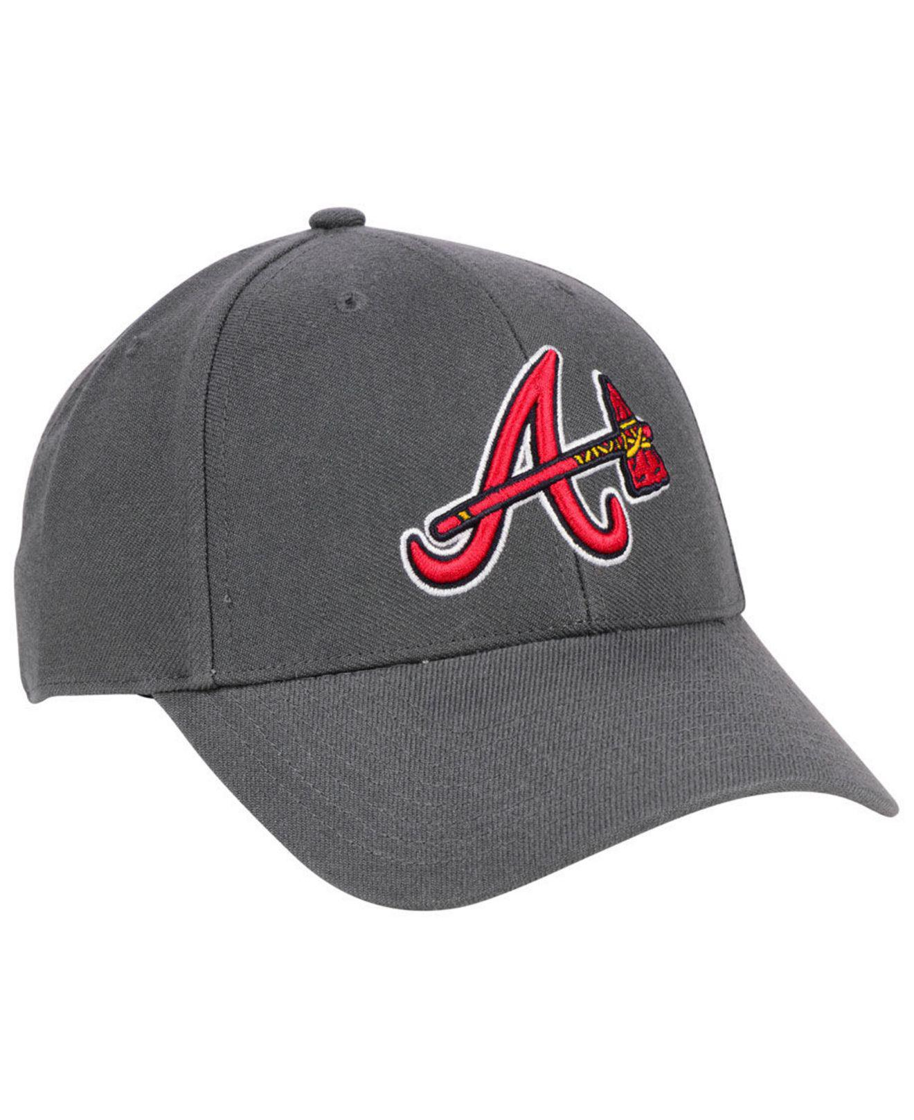 new arrival fa3ce 9b810 ... discount lyst 47 brand atlanta braves charcoal mvp cap in gray for men  e88fd f61a0