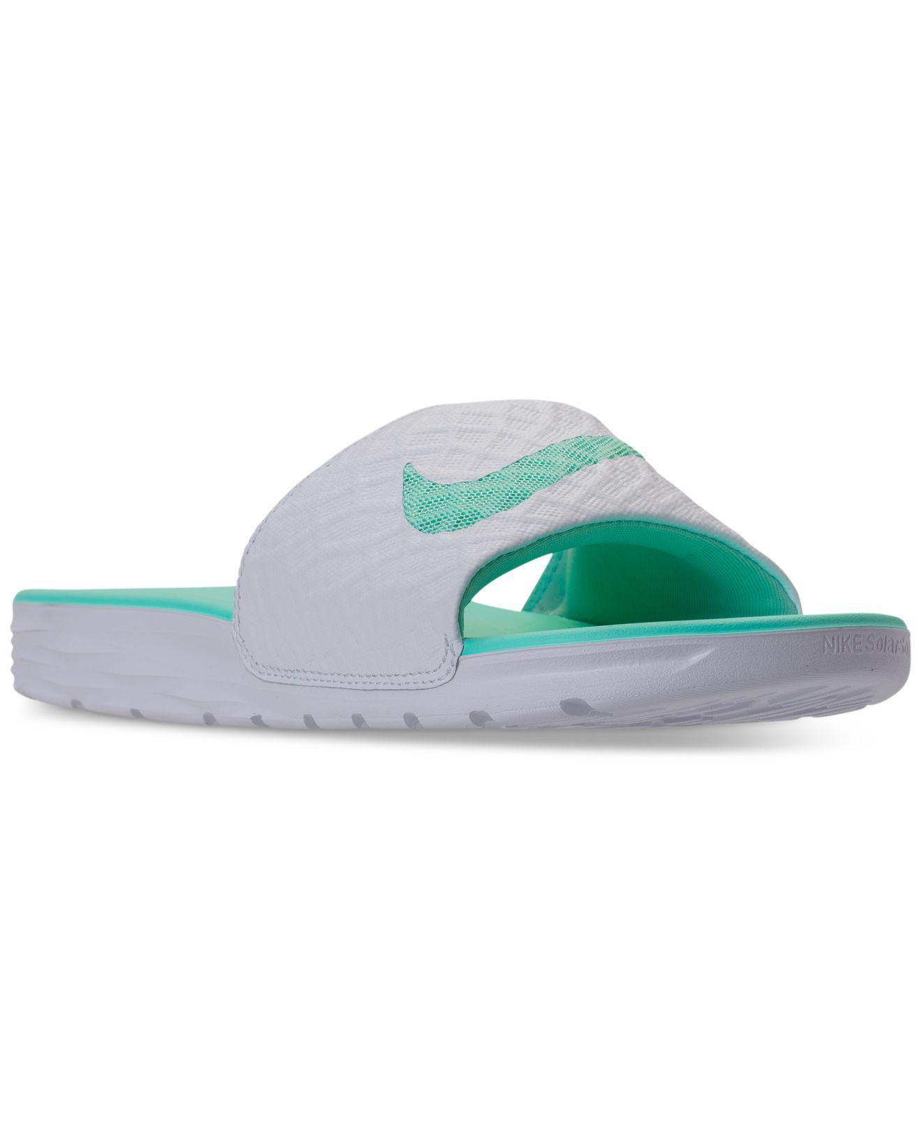 0915f23fc4d Lyst - Nike Women s Benassi Solarsoft 2 Slide Sandals From Finish Line