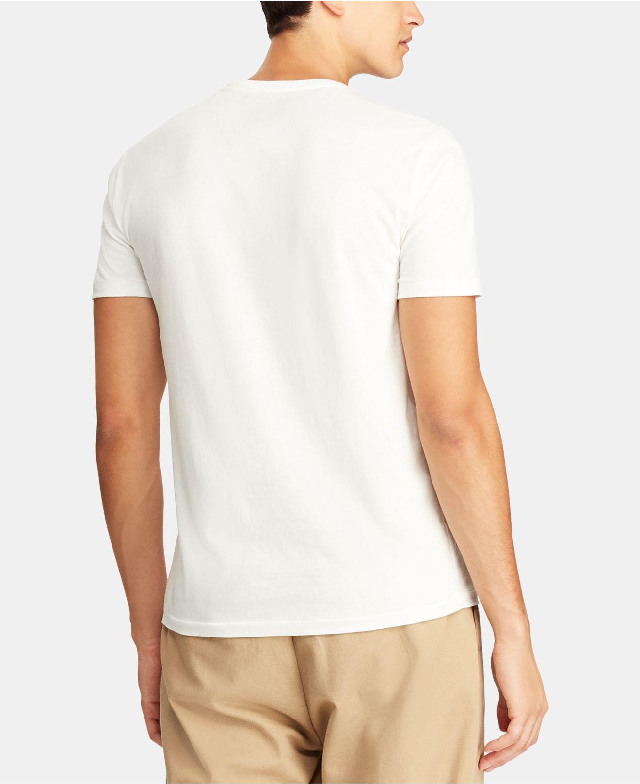 5fe87b43dbd31 Lyst - Polo Ralph Lauren Custom Slim Fit Cotton T-shirt in White for Men