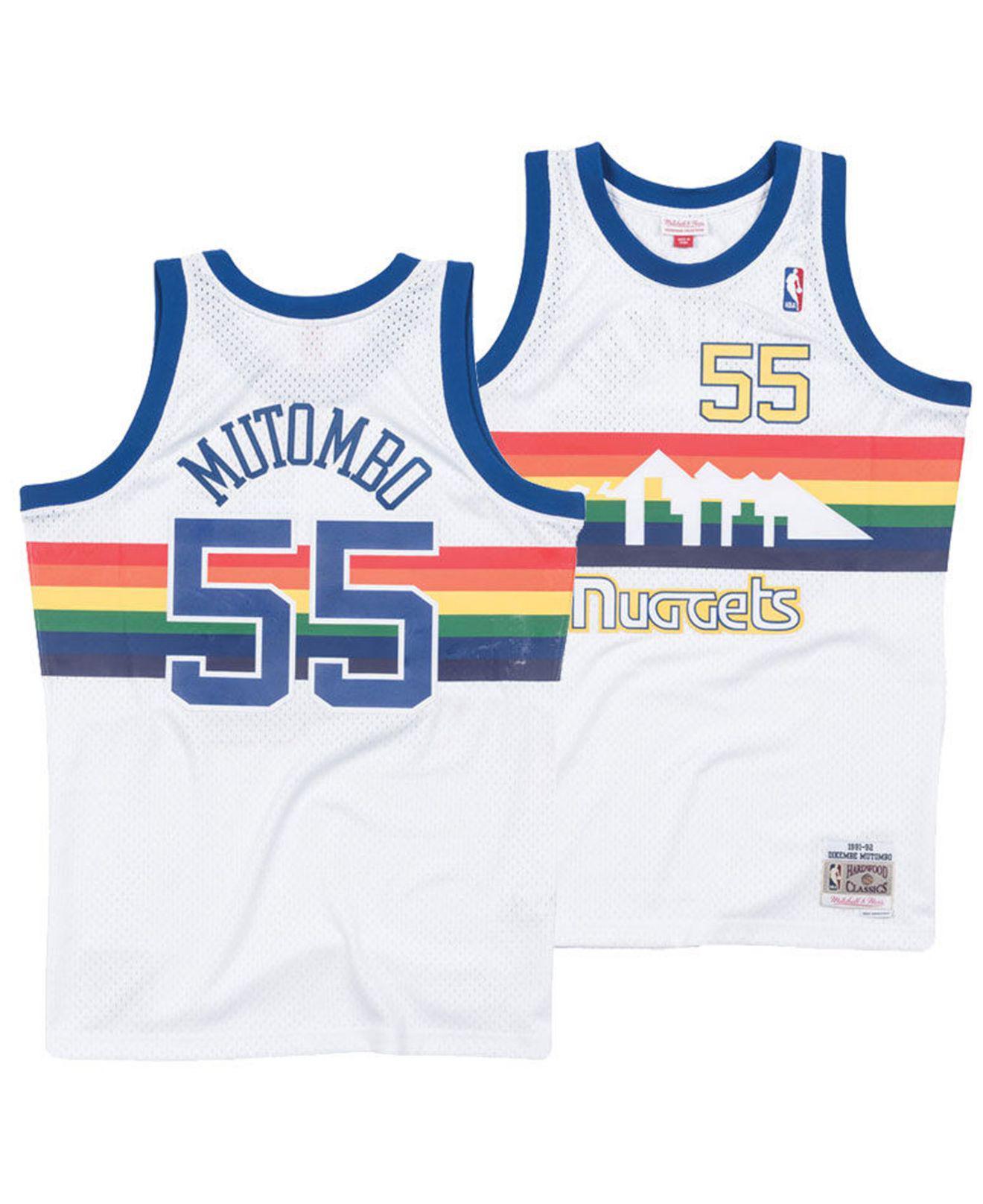 a02e95fe7c6e ... Dikembe Mutombo Denver Nuggets Hardwood Classic Swingman Jersey for Men  -. View fullscreen