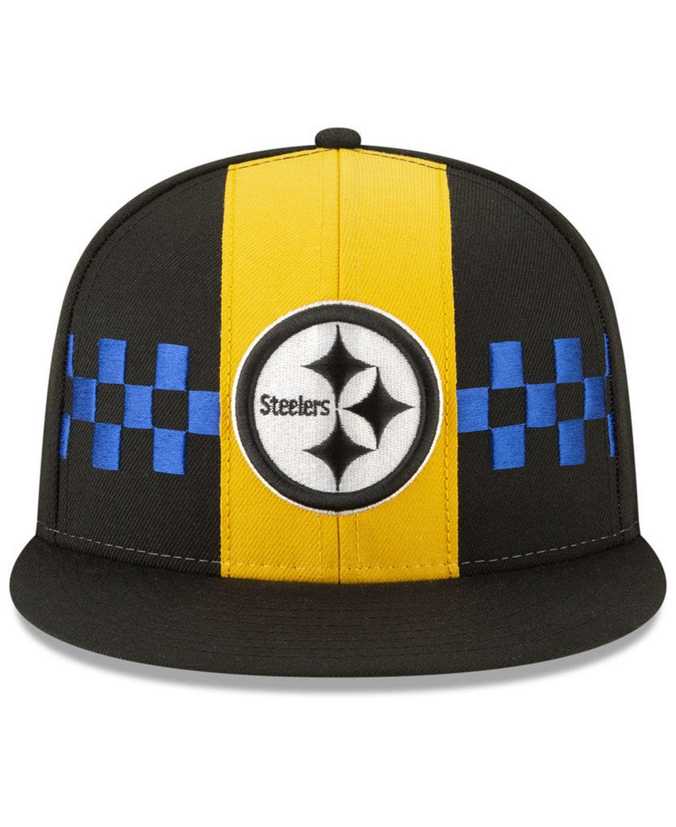b90a234d77b Lyst - KTZ Pittsburgh Steelers Draft Spotlight 59fifty-fitted Cap in Black  for Men
