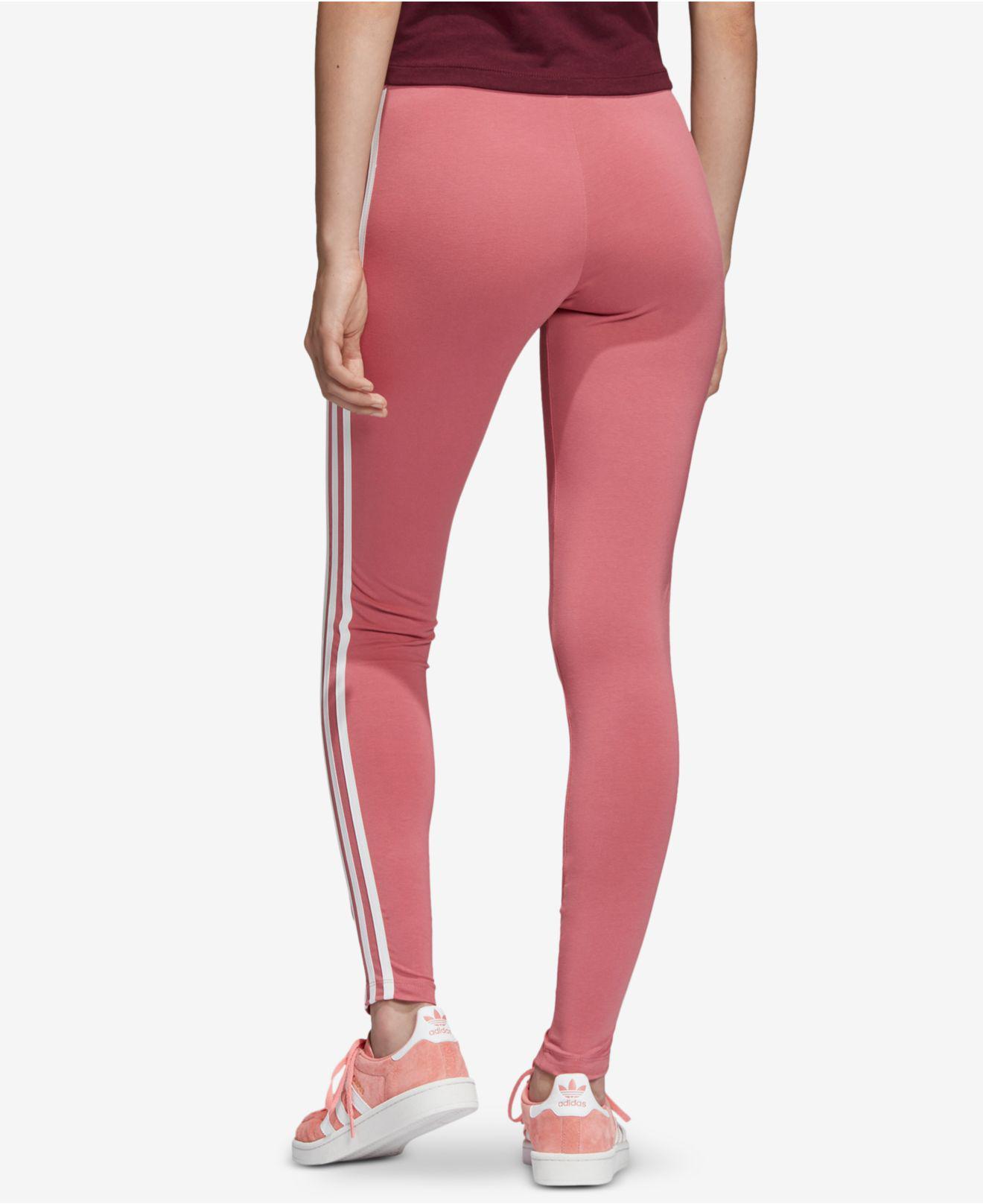 ad749fef259 Lyst - adidas Originals Adicolor 3-stripe Leggings in Red
