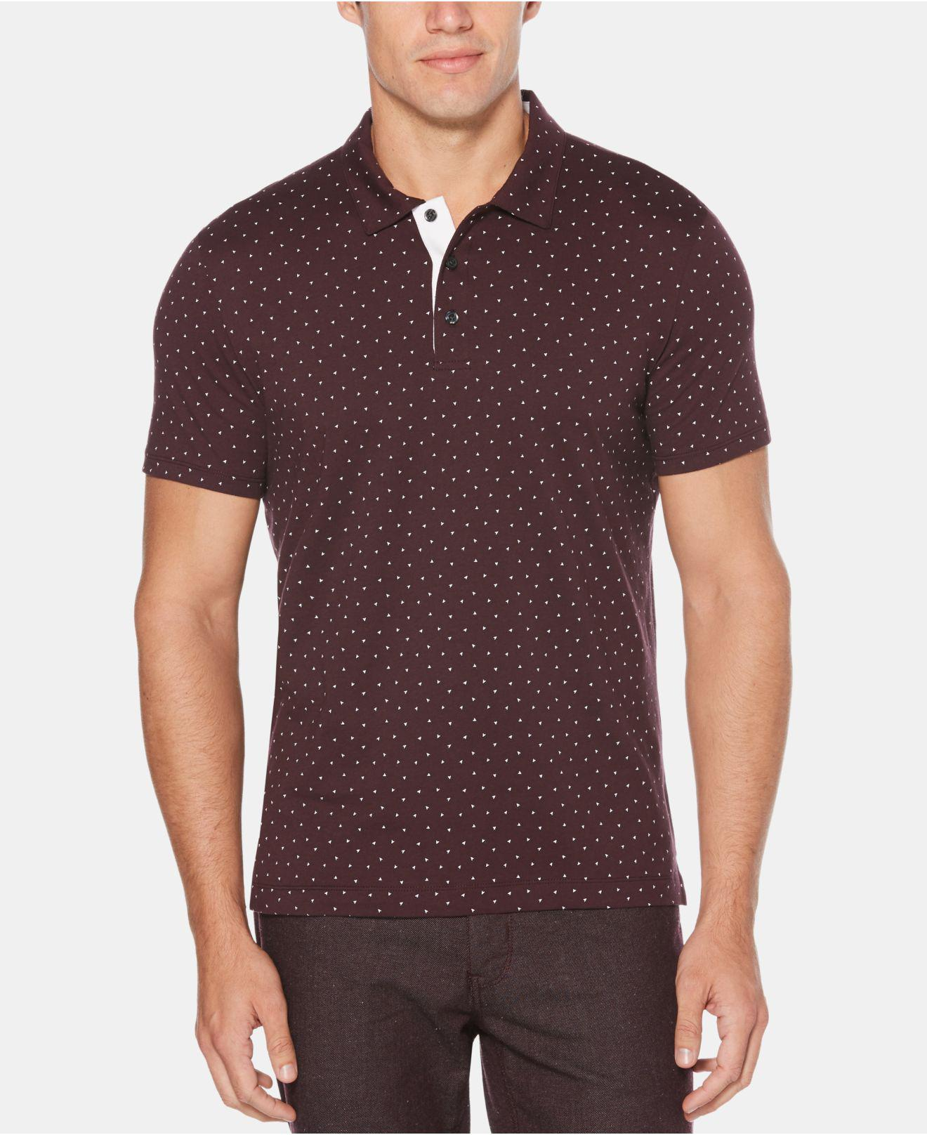Lyst Perry Ellis Arrow Print Polo In Purple For Men Save