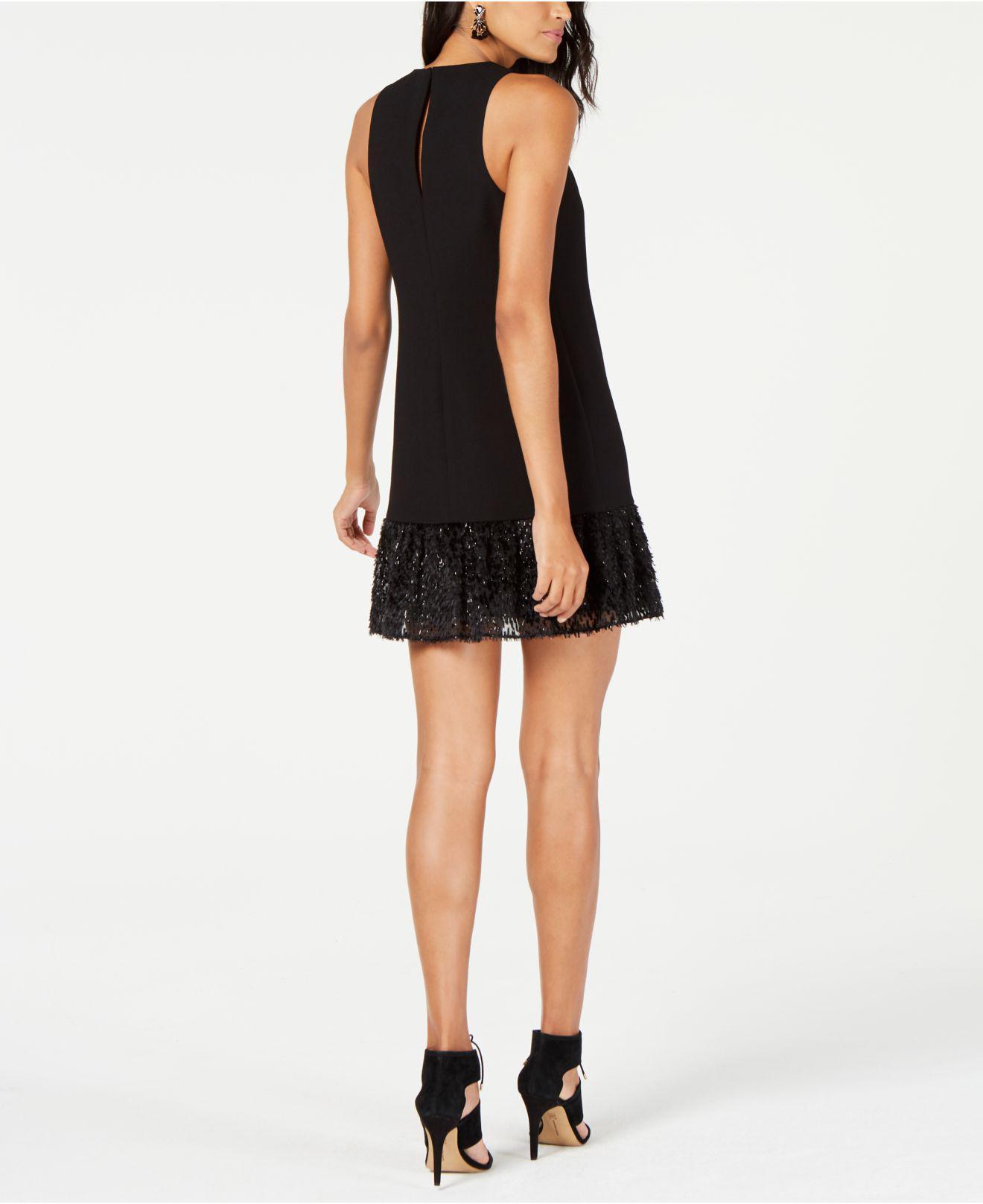 8d4a5cec34 Lyst - Trina Turk Berry Embellished-hem Shift Dress in Black