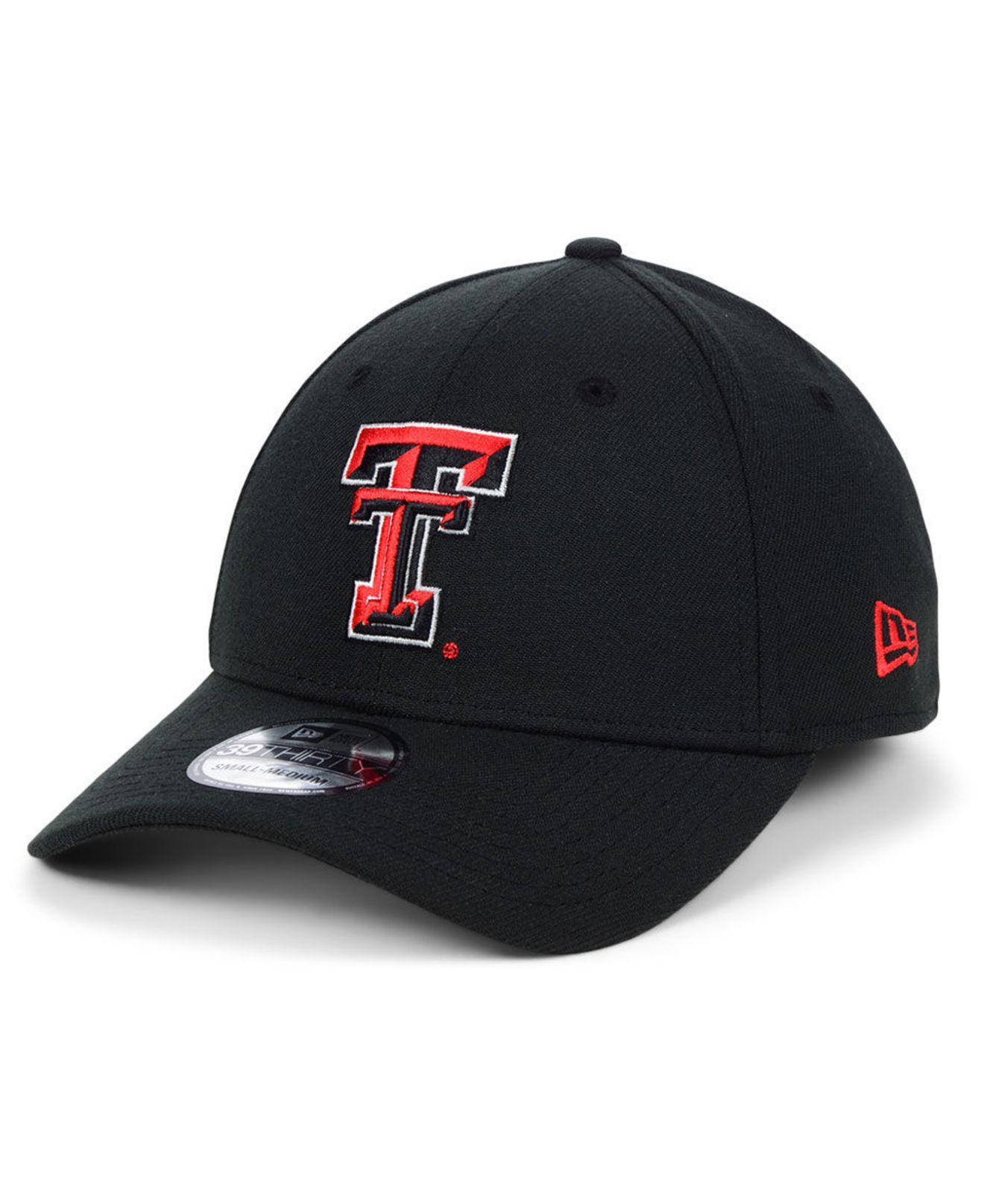 the best attitude 92f6a b2fbc ... ebay ktz. mens black texas tech red raiders college classic 39thirty cap  1e556 55225