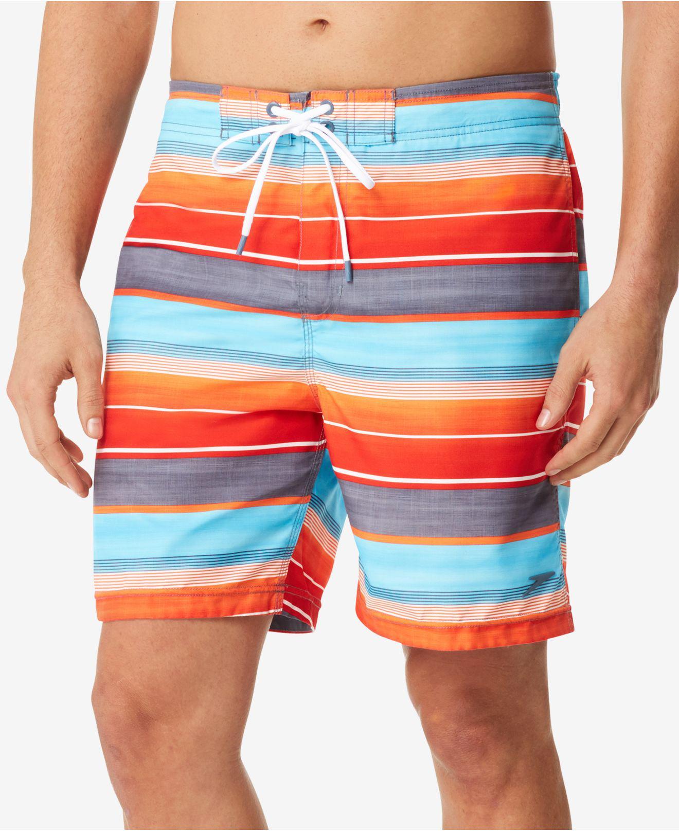 Orange White Stripe Drawstring Trunk Brief Speedo Swimwear FDCrLLtZ