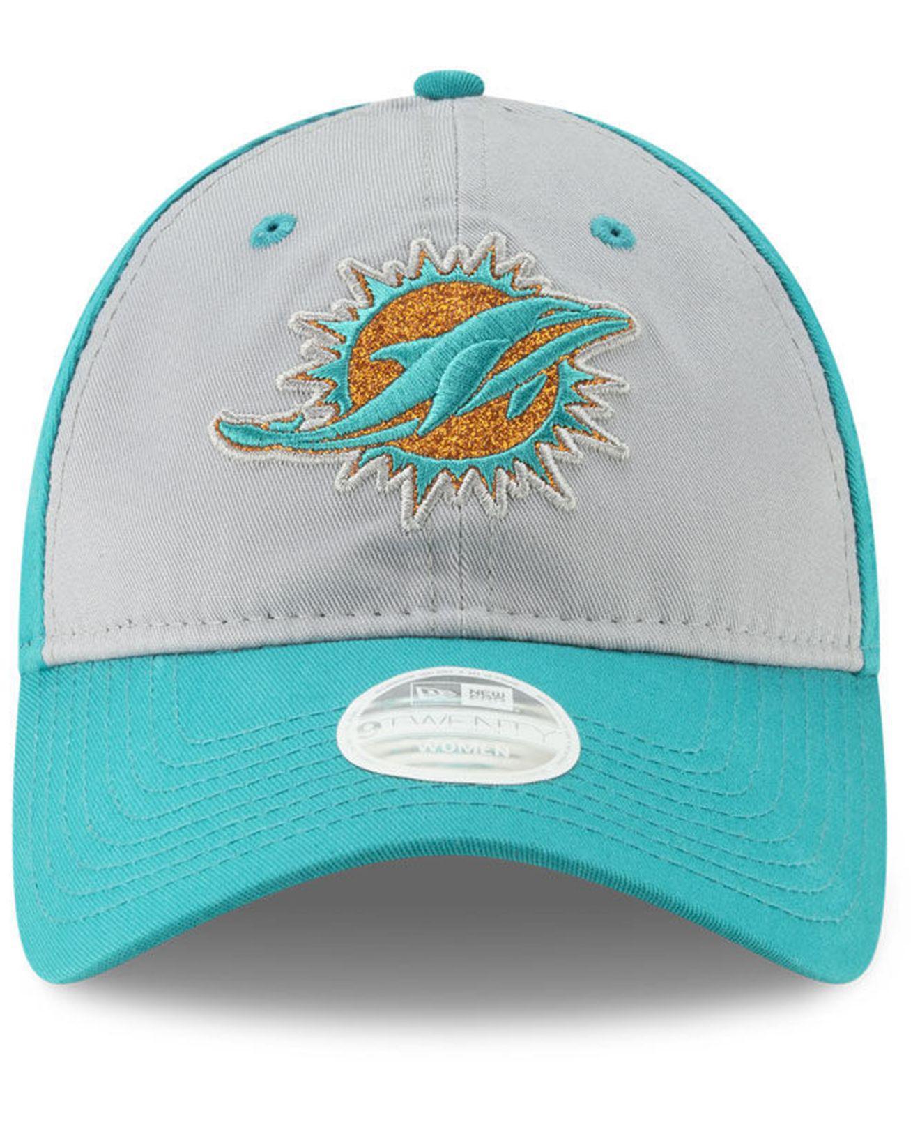 hot sale online bd54b 47af9 Lyst - KTZ Miami Dolphins Gray Glitter 9twenty Cap