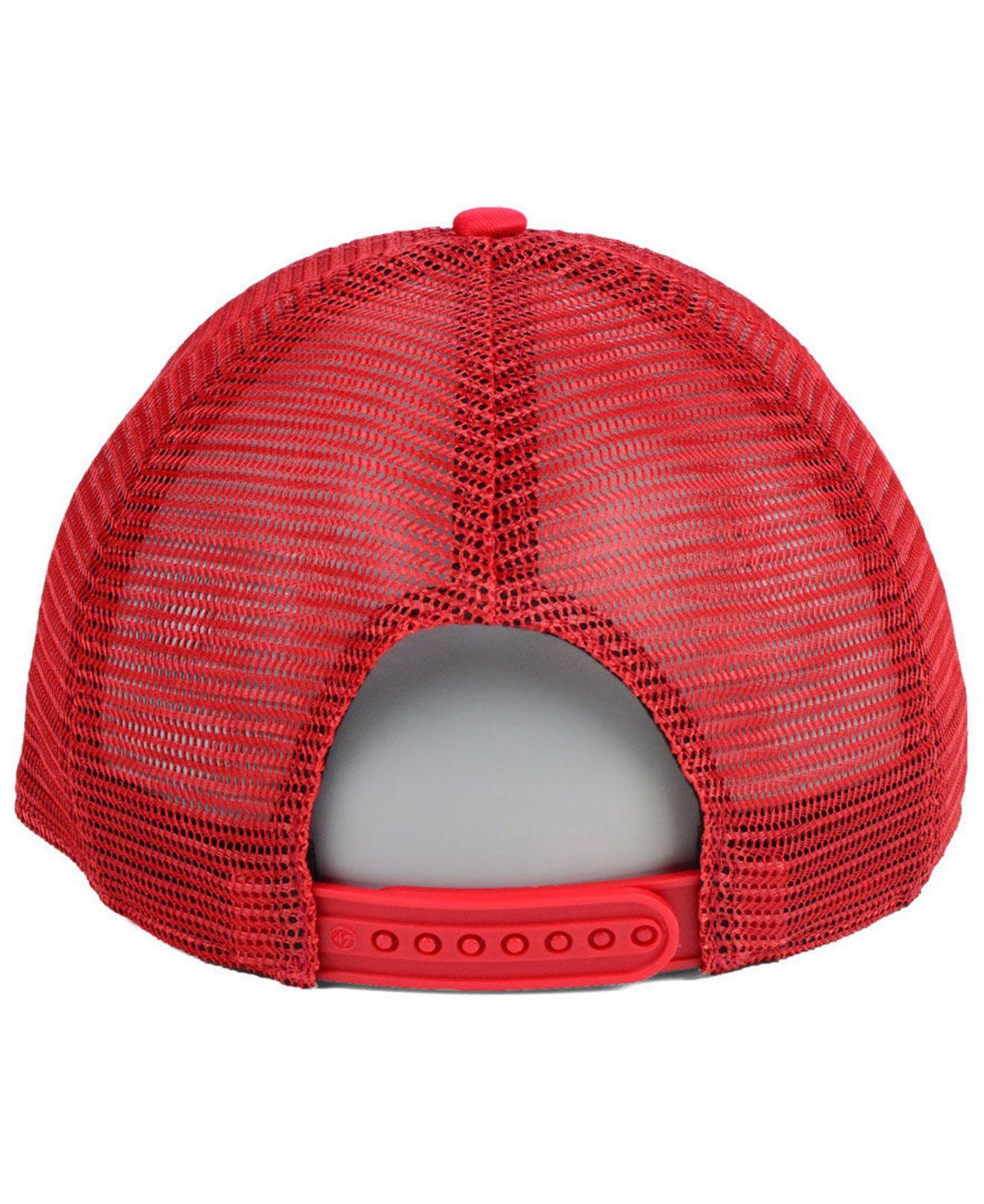 designer fashion 2a92f ca5f4 ... switzerland 47 brand red chicago bulls region mesh mvp cap for men lyst.  view fullscreen