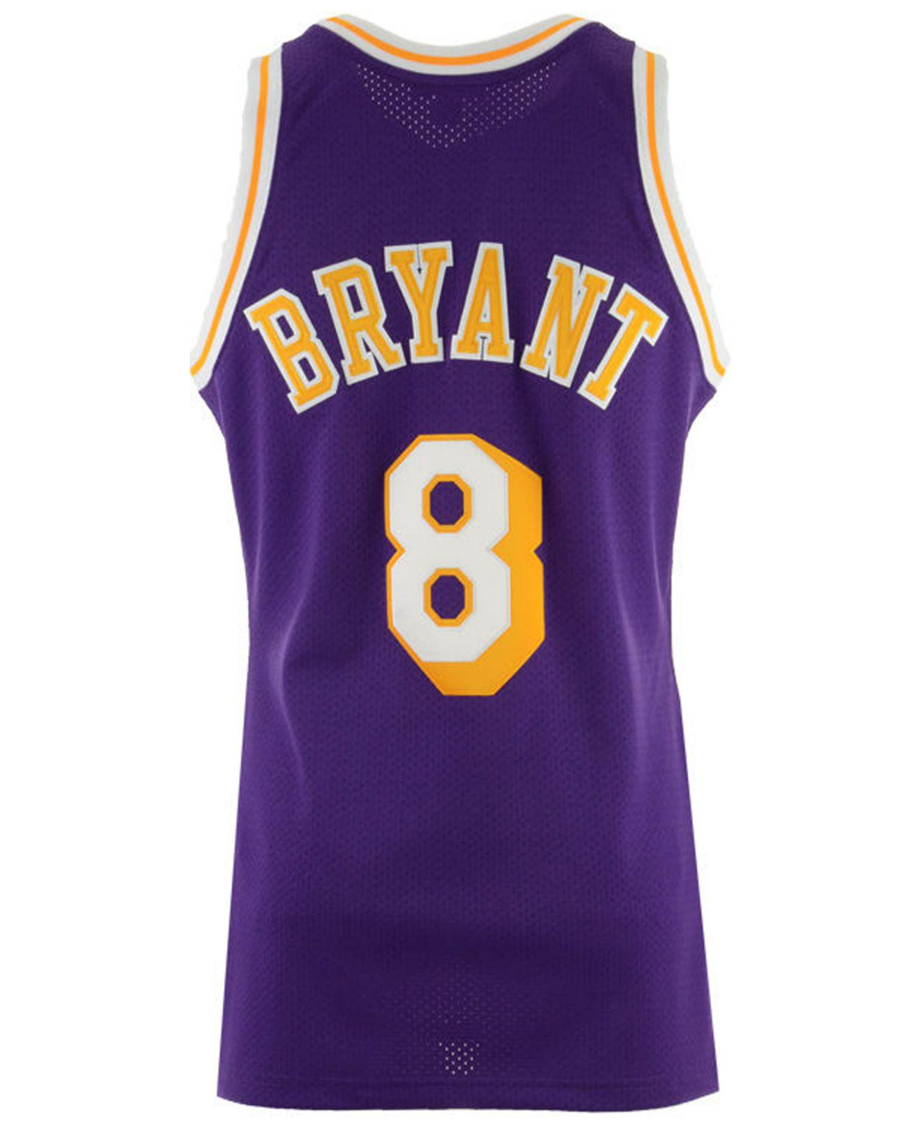 Mitchell   Ness. Men s Purple Kobe Bryant Los Angeles Lakers Authentic  Jersey e6033f4b6