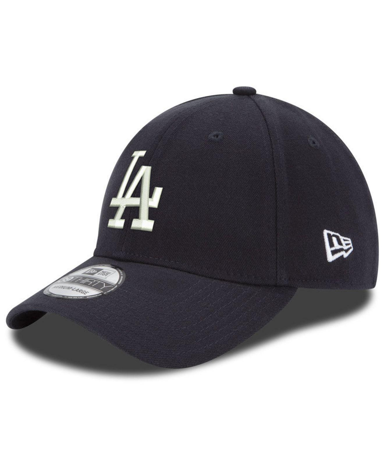 new concept 8dfdb e3091 KTZ. Men s Blue Los Angeles Dodgers Dub Classic 39thirty Stretch Fitted Cap