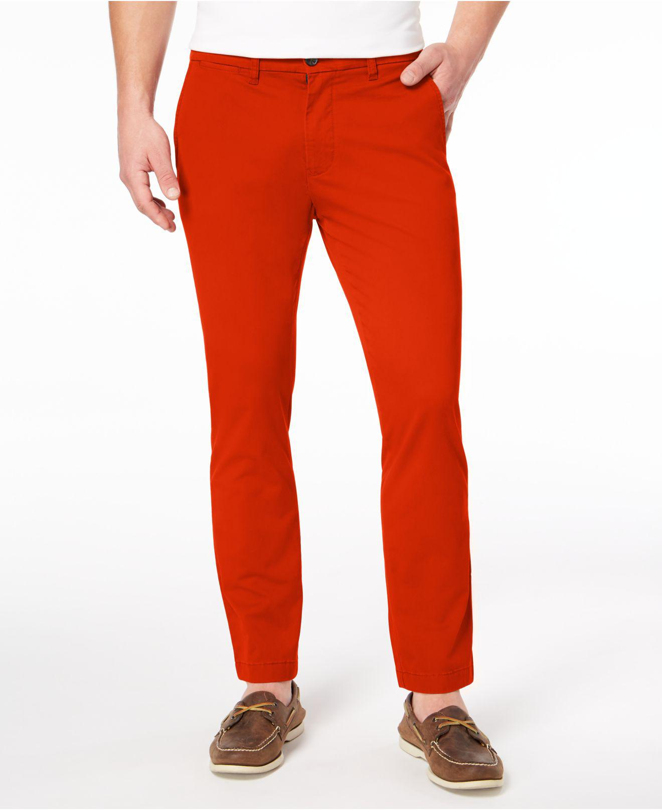 505325e6a Lyst - Tommy Hilfiger Th Flex Stretch Slim-fit Chino Pants, Created ...