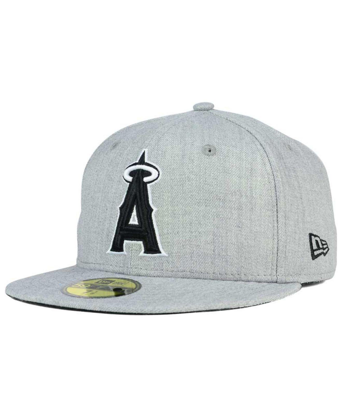 new arrivals 76a7c 9e90a KTZ. Men s Gray Los Angeles Angels Of Anaheim Heather Black White 59fifty  Cap