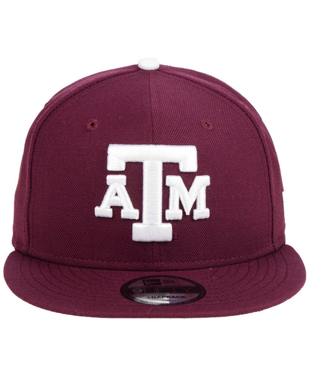 f9a4affec99 Lyst - Ktz Texas A m Aggies Core 9fifty Snapback Cap in Purple for Men