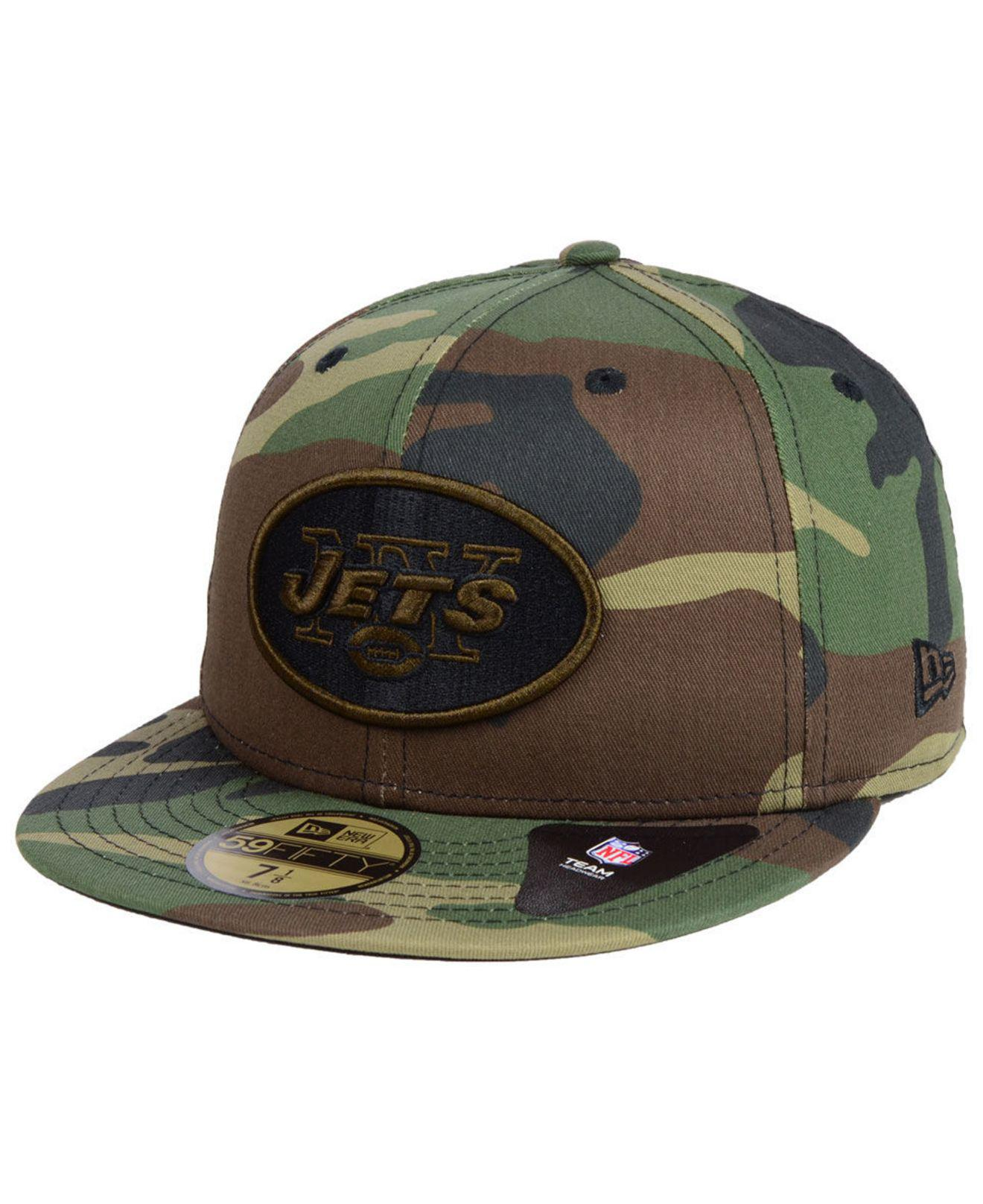 6d3a053fa6d1d Lyst - KTZ New York Jets Woodland Prism Pack 59fifty-fitted Cap in ...