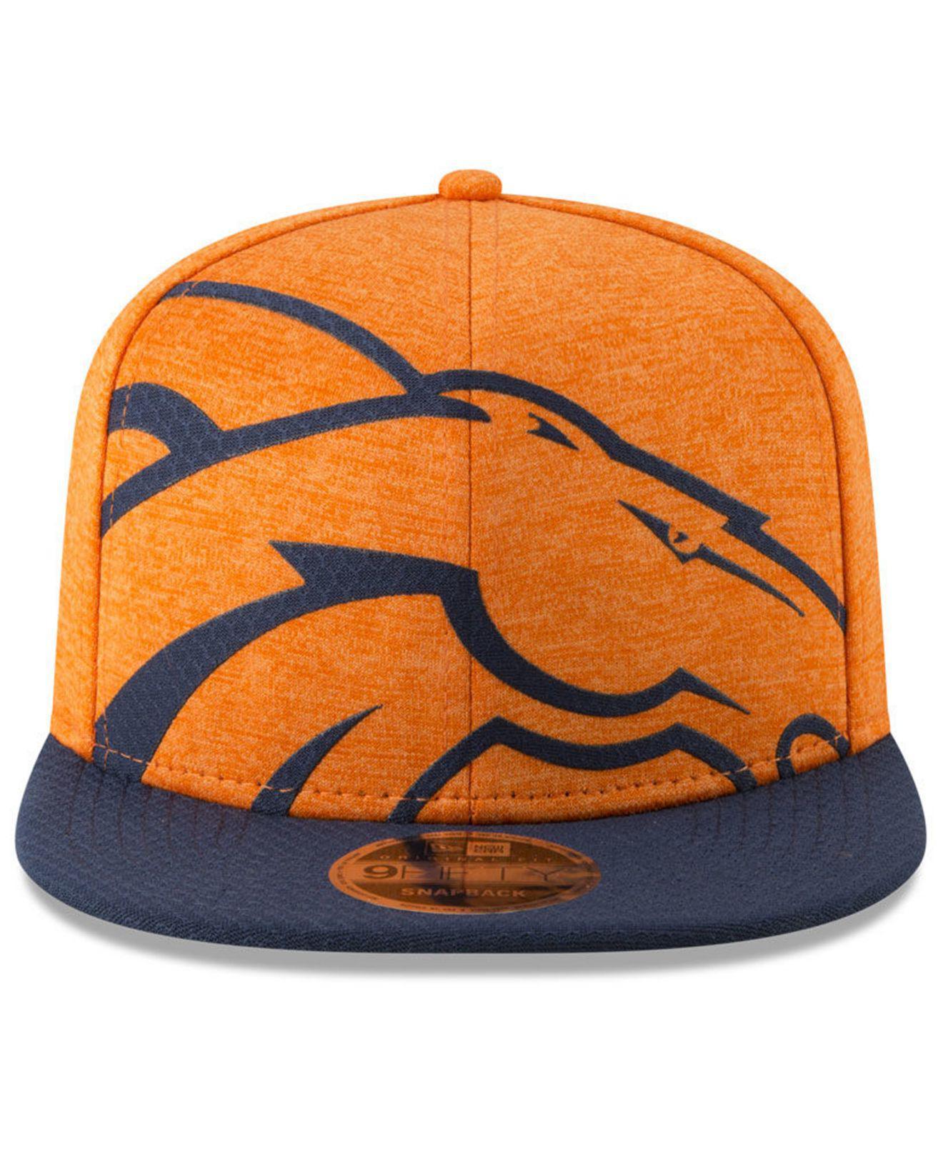 Lyst - KTZ Denver Broncos Oversized Laser Cut 9fifty Snapback Cap in Orange  for Men 5c481e165d6