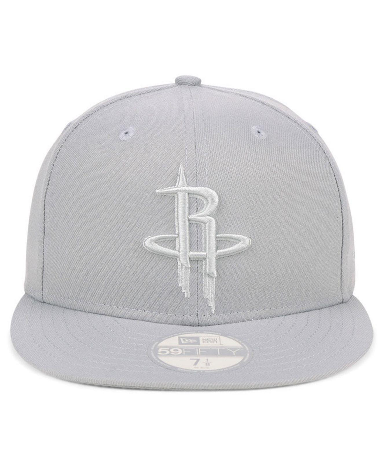 official photos 7c8e5 500d9 ... cheapest lyst ktz houston rockets fall prism pack 59fifty fitted cap in  gray for men 8dde5