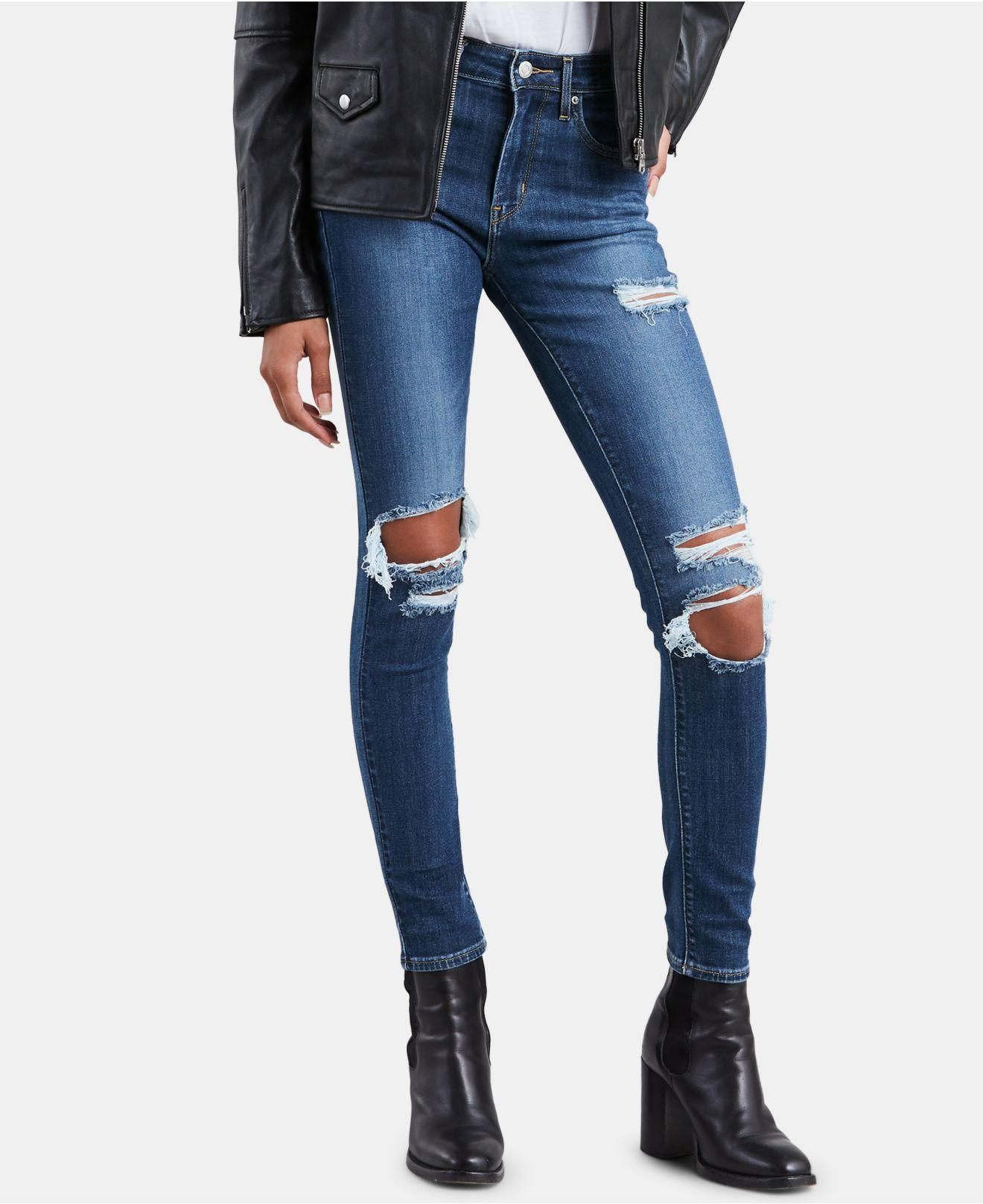 8a55782b Lyst - Levi's ® 721 High-rise Skinny Jeans in Blue