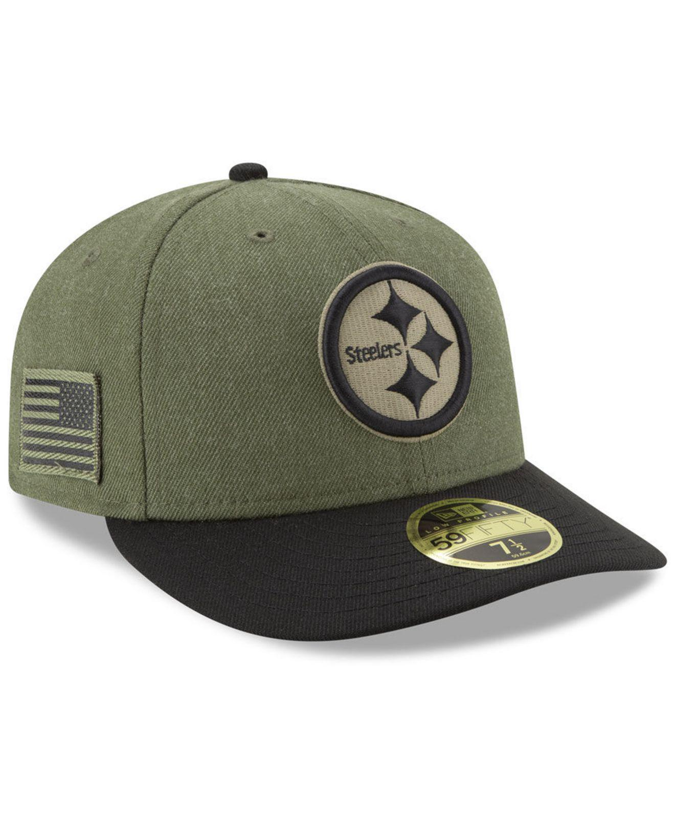finest selection e689e 7676f KTZ Pittsburgh Steelers Salute To Service Low Profile 59fifty Fitted ...