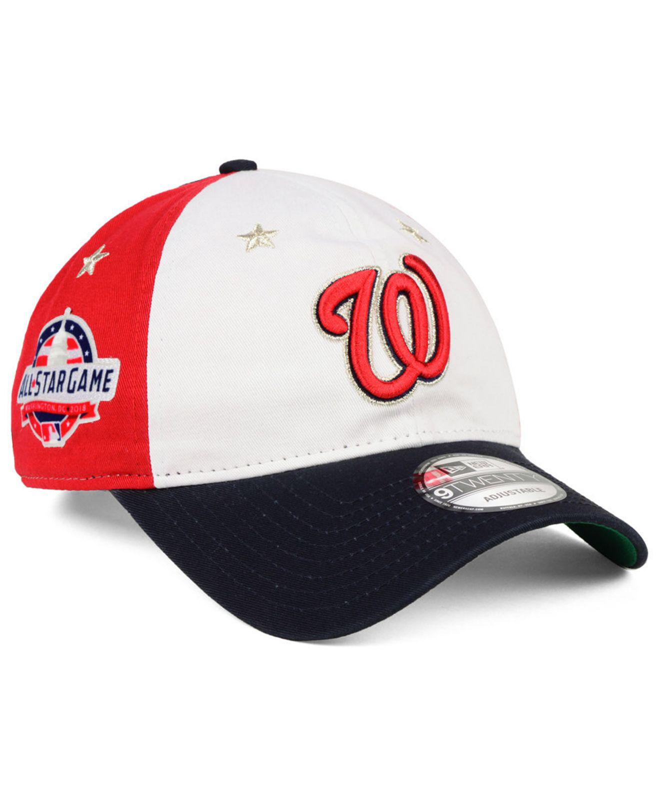 free shipping e1b4d eba33 ... order ktz. mens red washington nationals all star game 9twenty  strapback cap 2018 c7993 f26fc