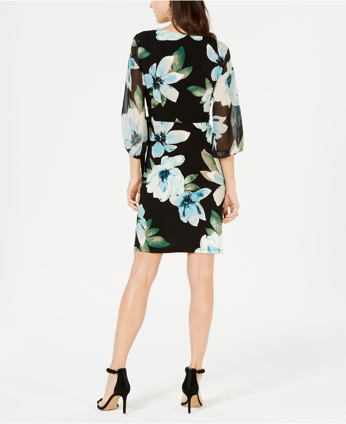 55b072932b08 Lyst - INC International Concepts I.n.c. Floral Woven Faux-wrap ...